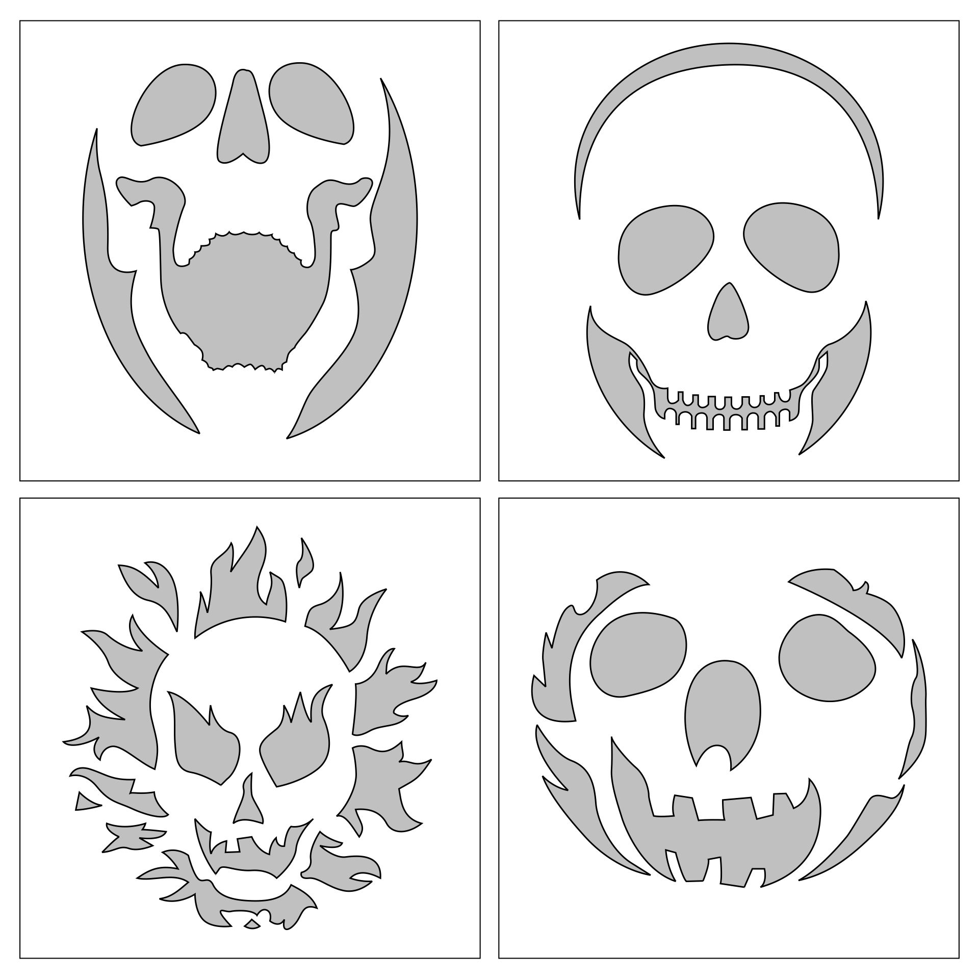 Cracked Skull Pumpkin Templates For Carving