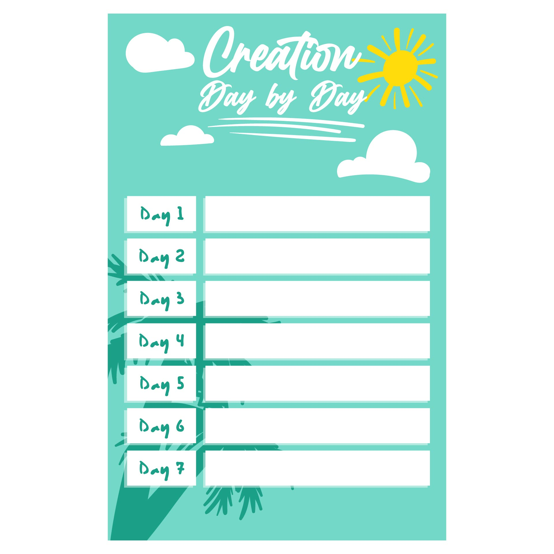 Creation Story Activities And Worksheets
