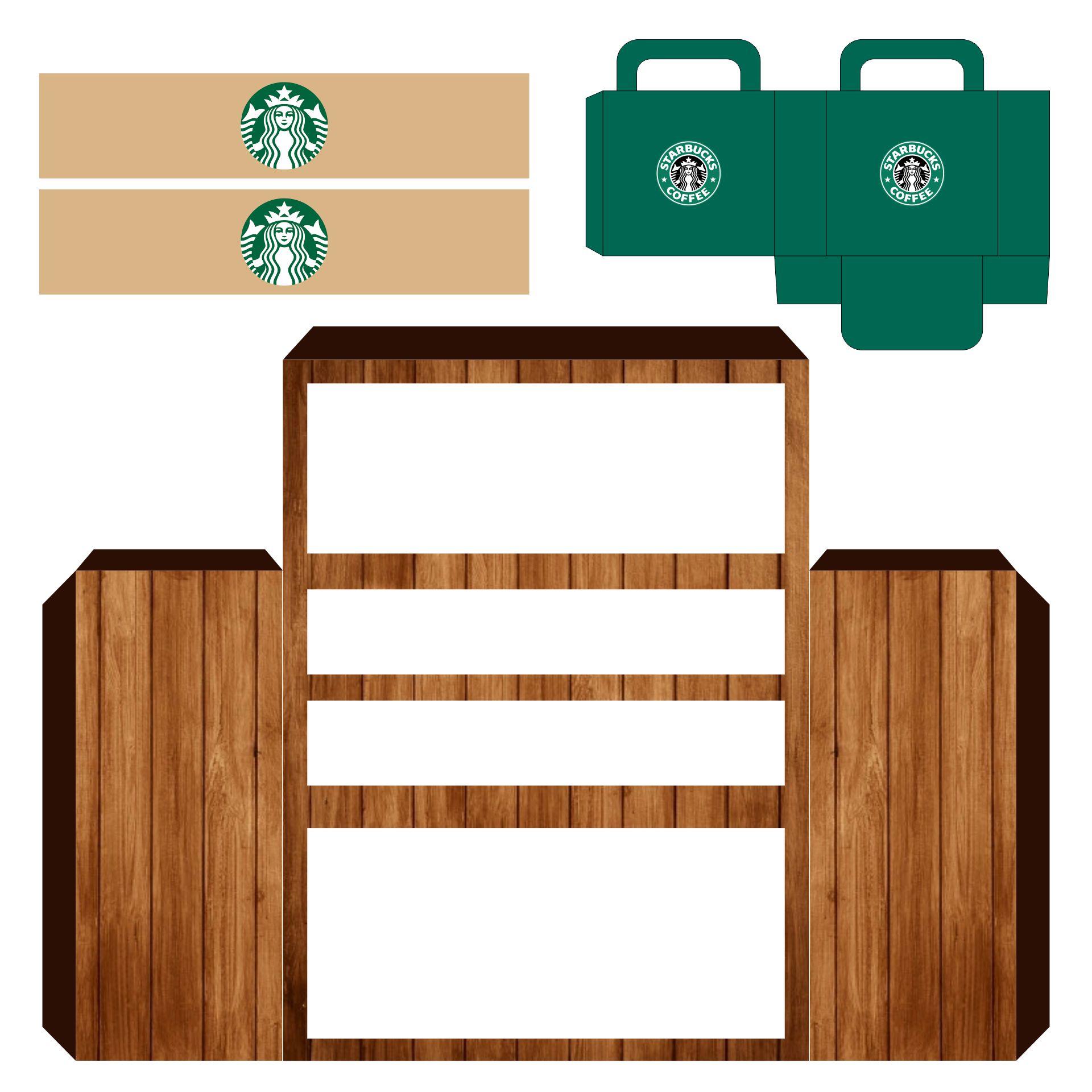 DIY Miniature Starbucks Coffee Cafe For Dools