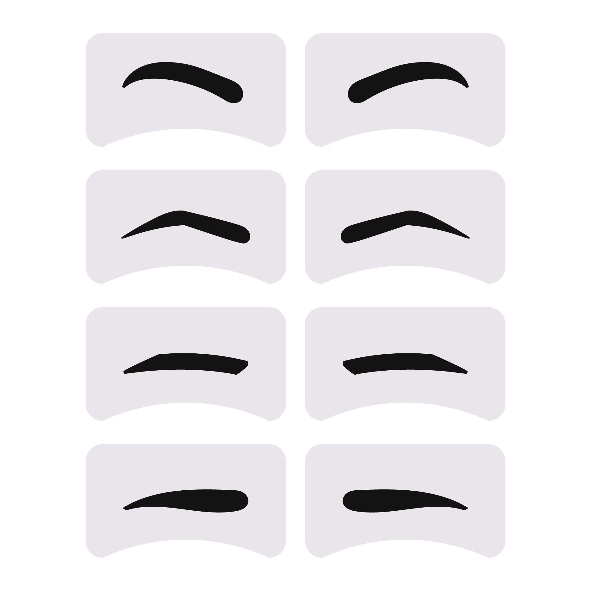Eyebrow Stencil Grooming Shaper Template Makeup Tools