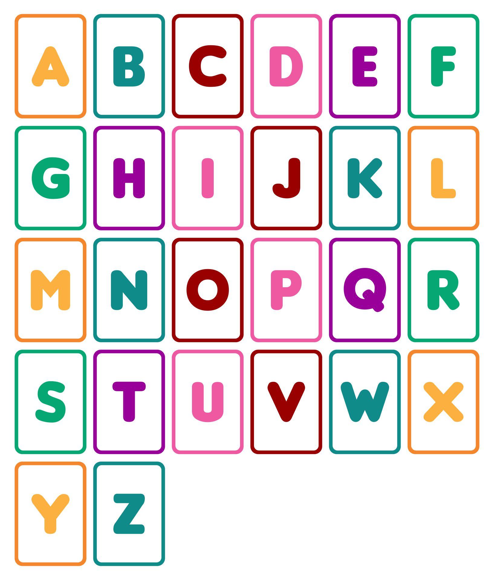 Preschool & Kindergarten ABC Flashcards & Printable Chart