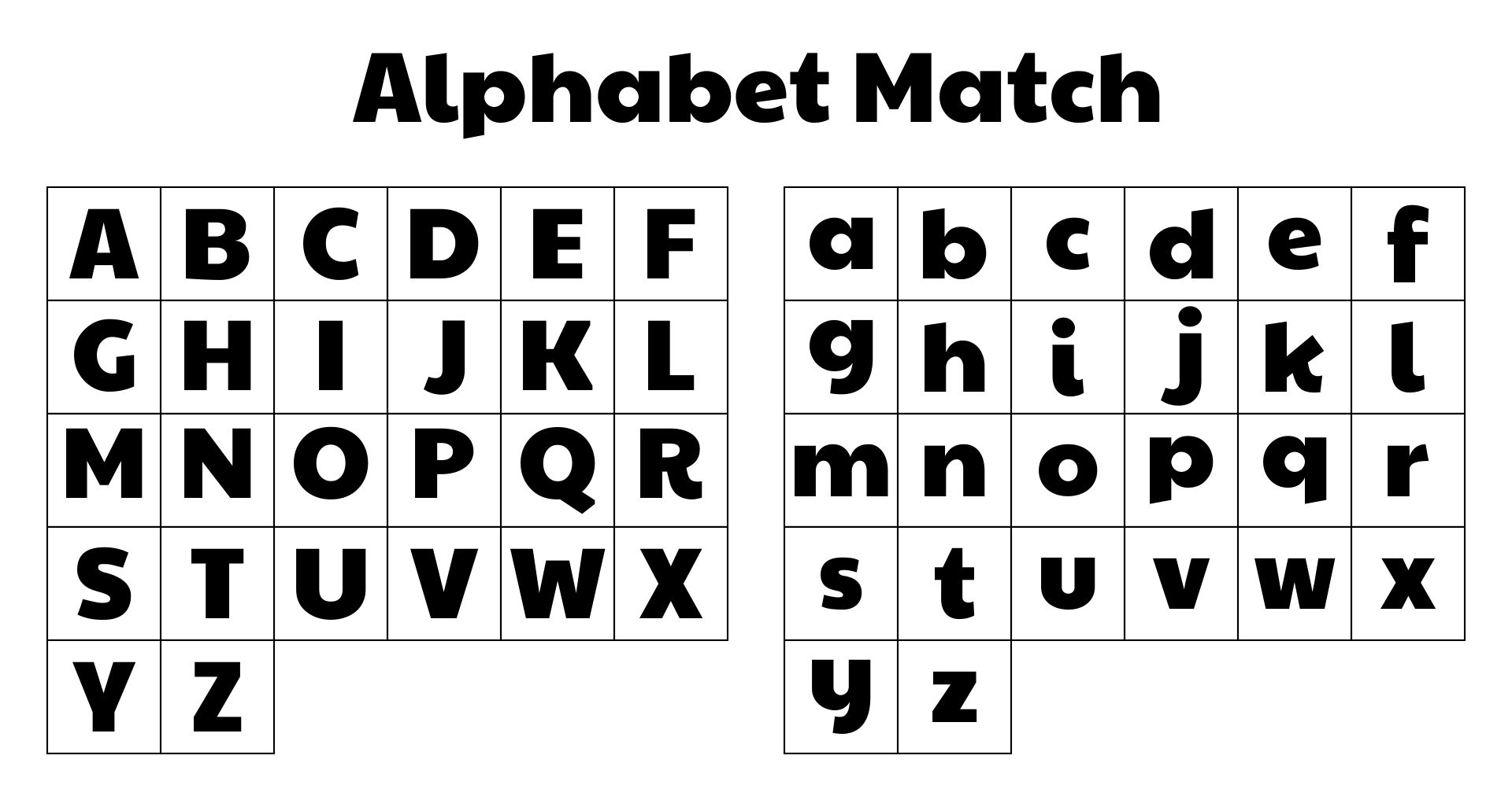 Printable ABC Matching Game For Preschool And Early Childhood