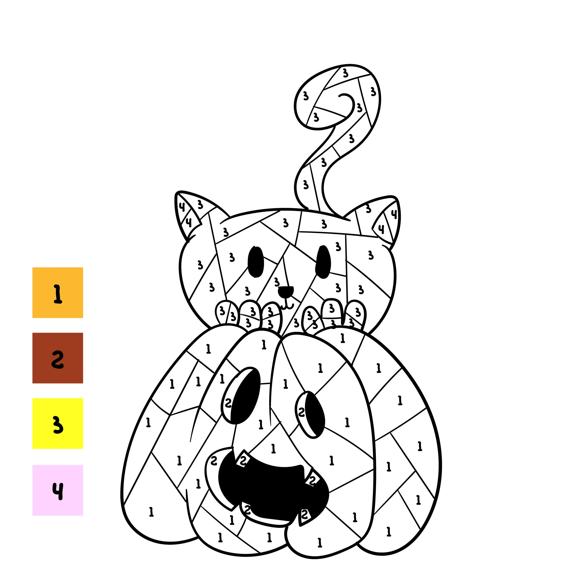 Free Printable Color By Number Halloween Sheets