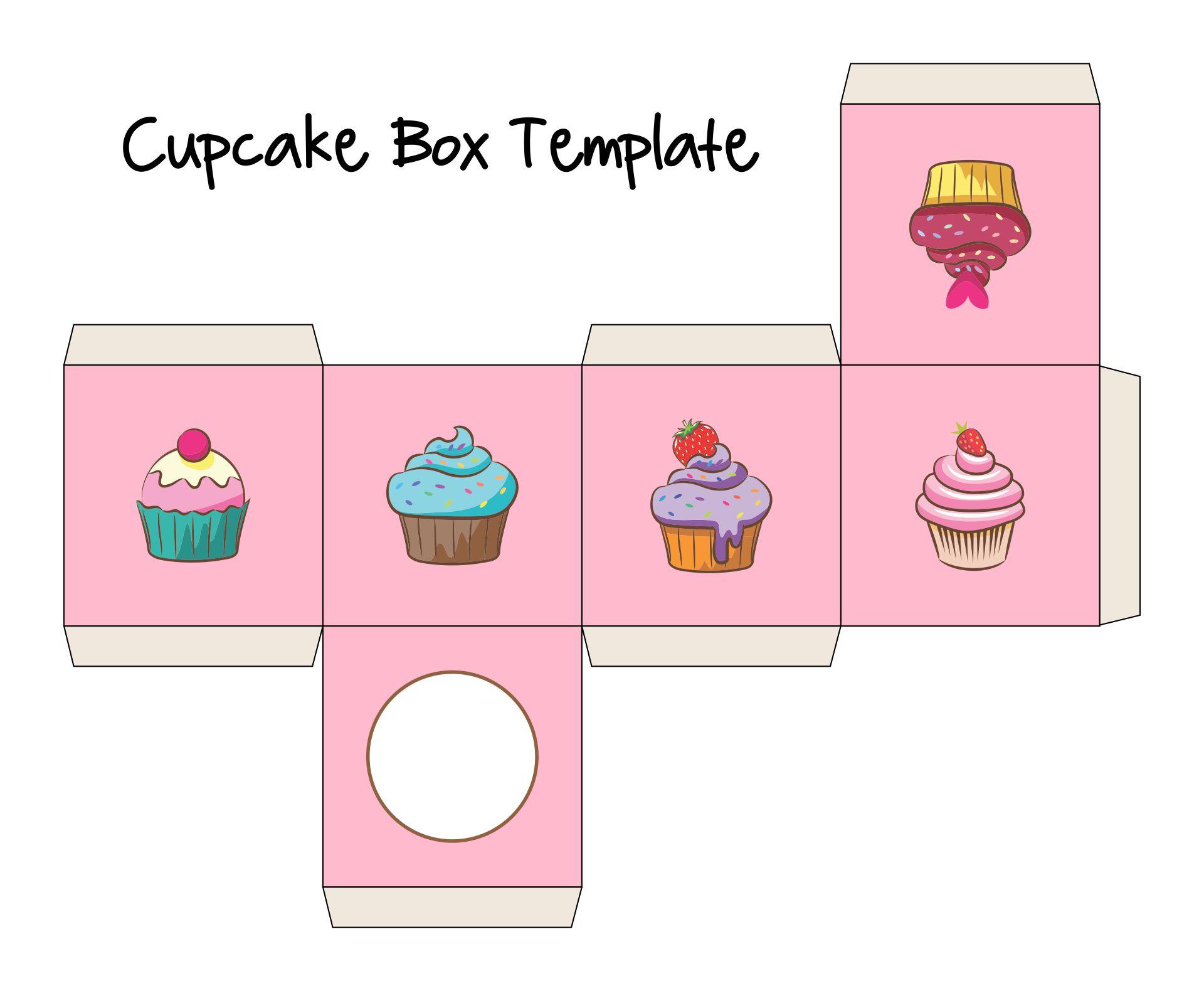 Free Printable Cupcake Box Template