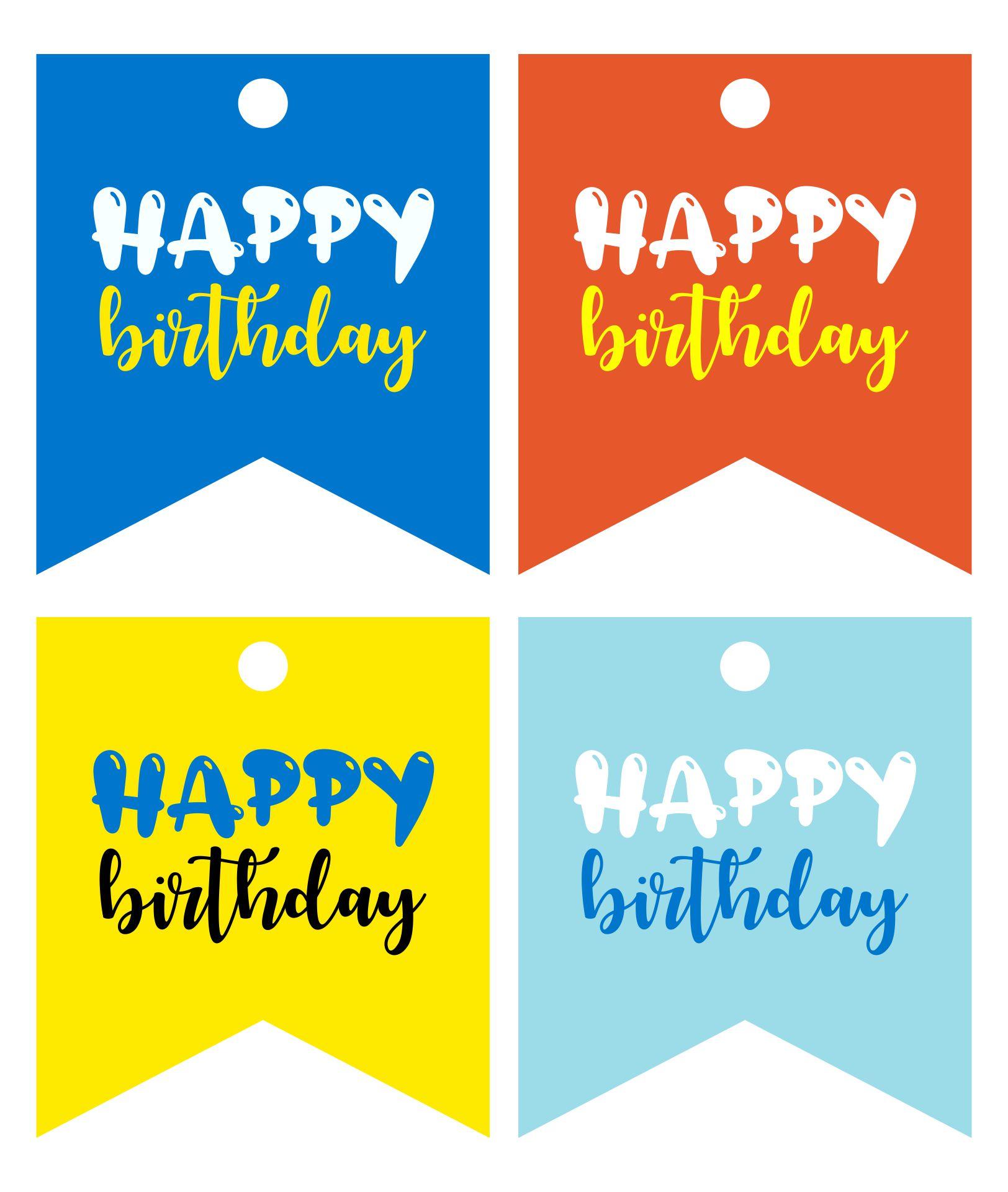 Free Printable Gift Tags Birthday