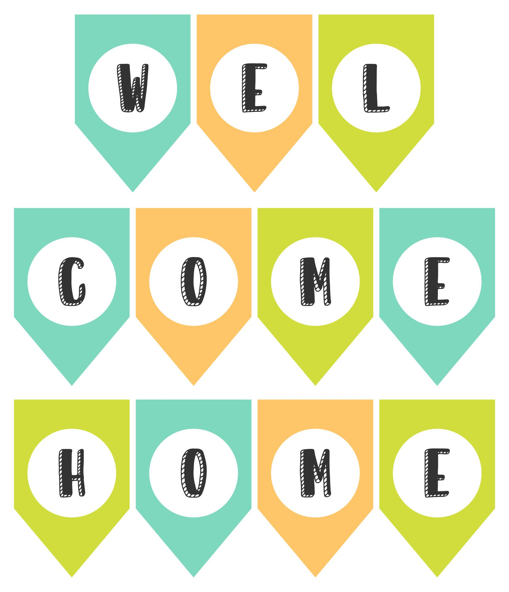 Free Printable Welcome Home Banners Signs