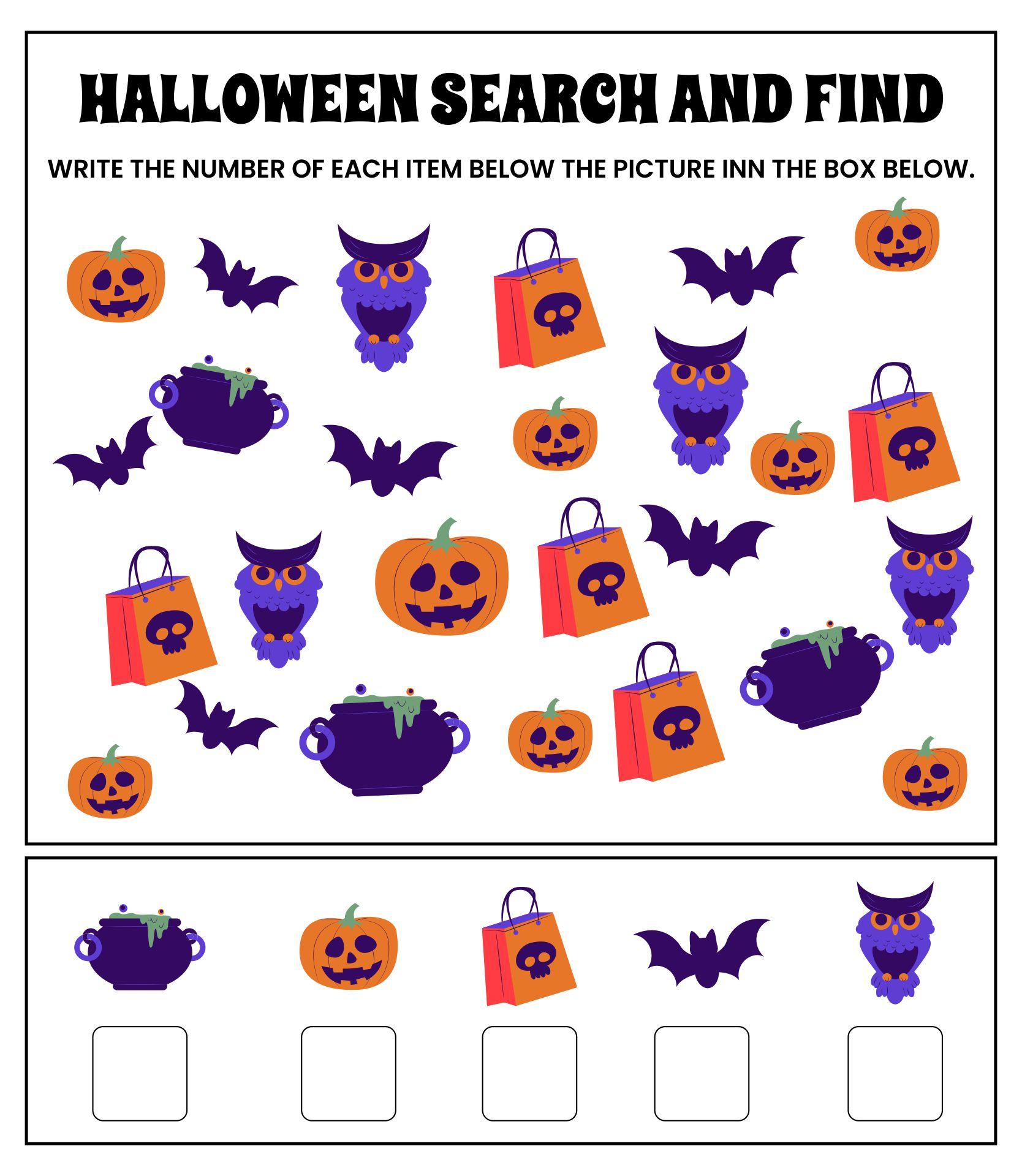 Halloween Find The Item Activity
