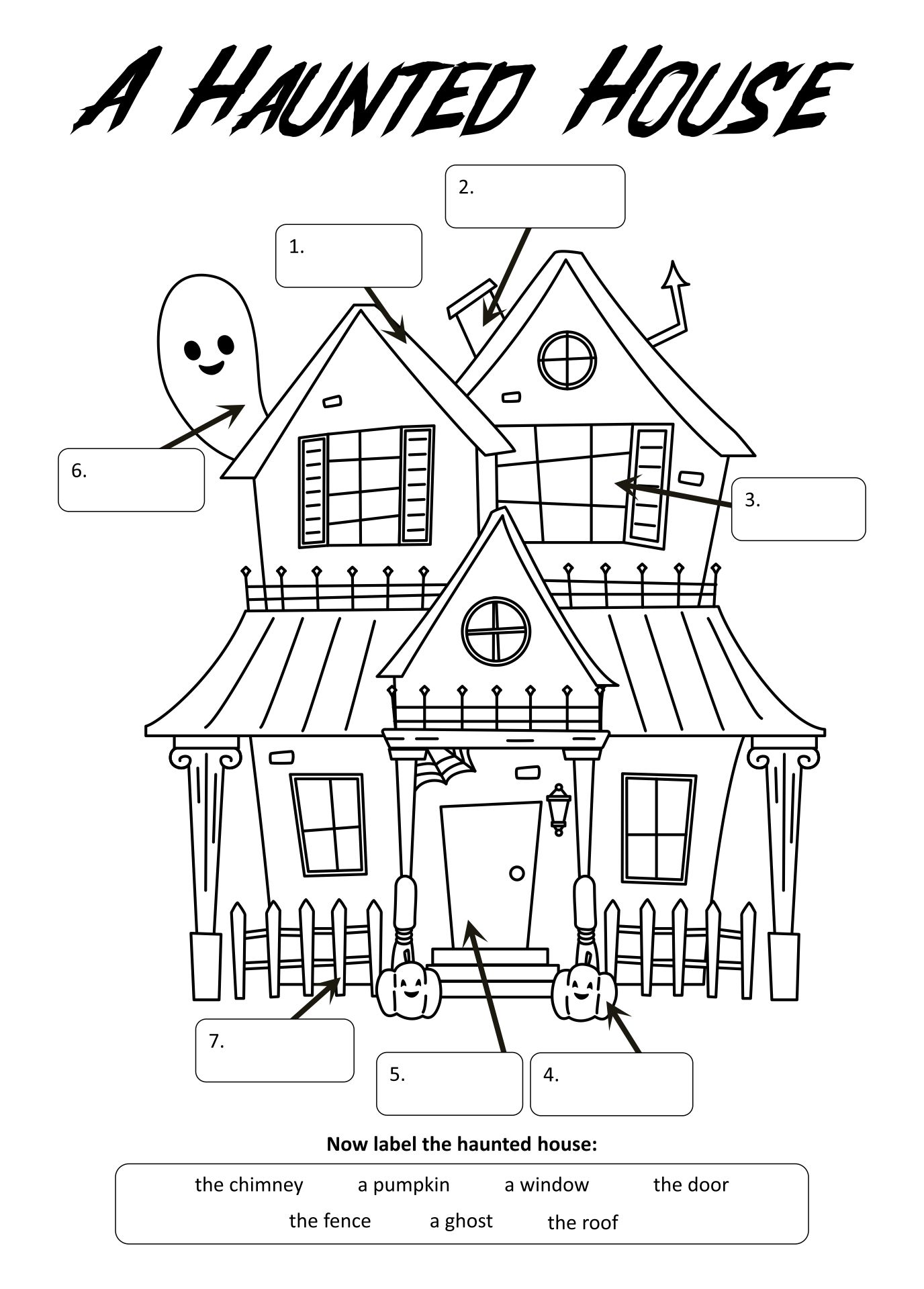 Halloween The Haunted House English ESL Worksheets For Distance  Learning And Physical Classrooms
