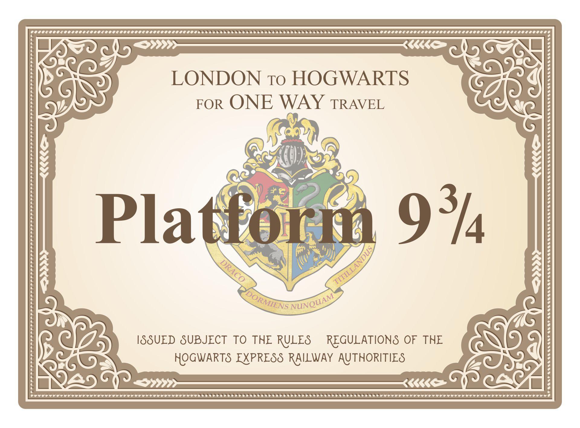Harry Potter Train Ticket Printable
