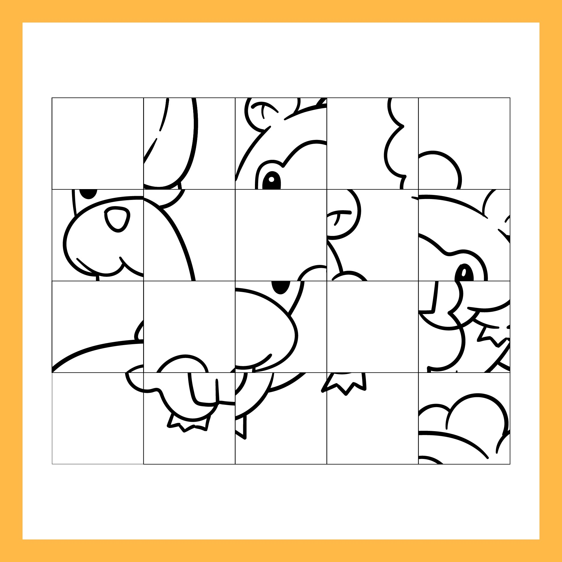 Mystery Grid Drawing Groundhogs