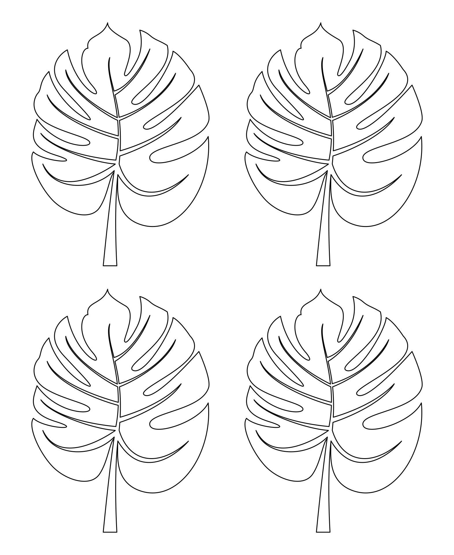 Palm Leaf Pattern Template Printable