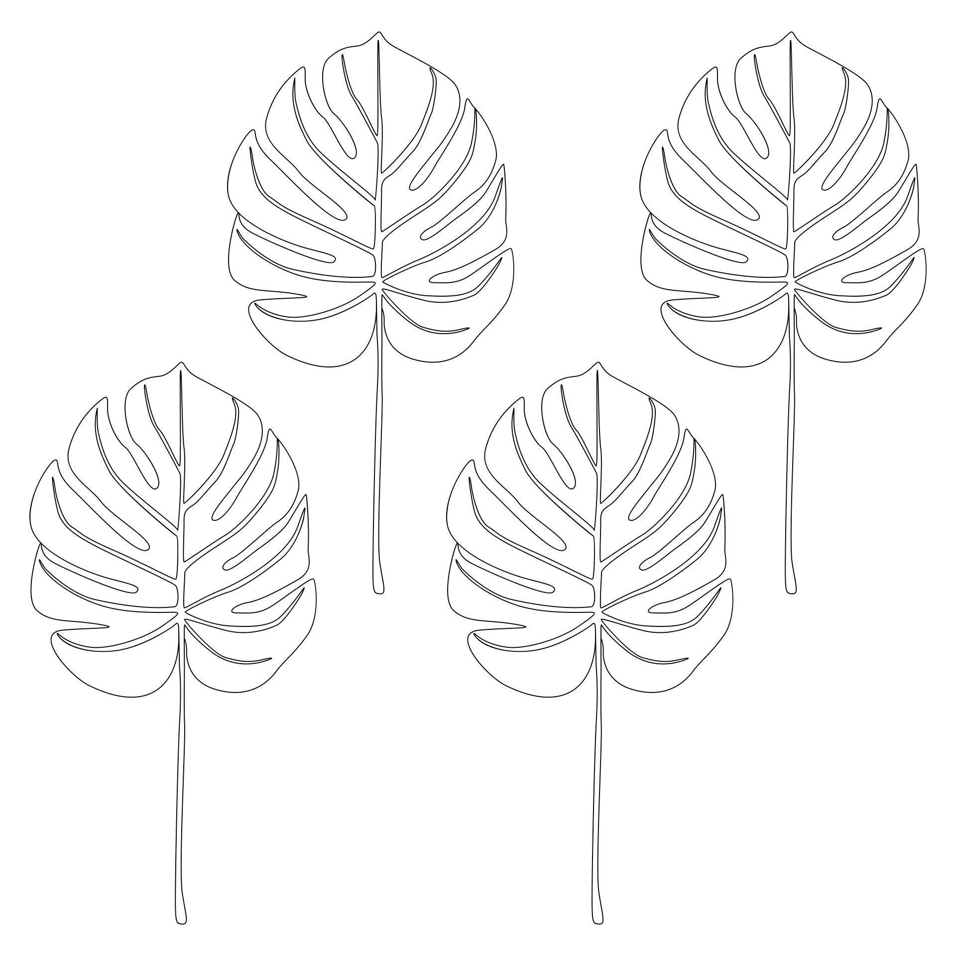Palm Leaf Template To Print