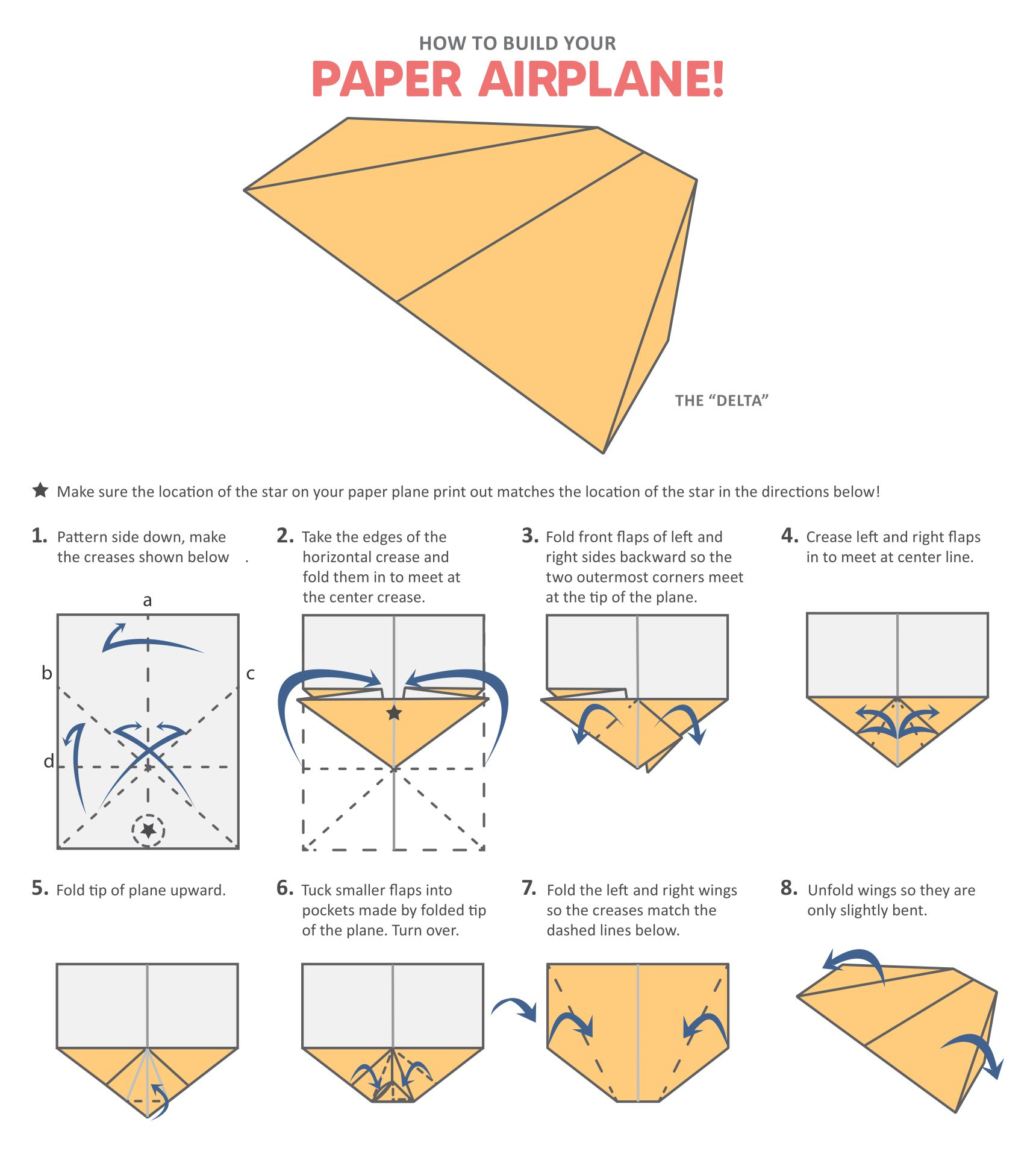 Paper Airplane Paper Plane Template Fun Printable Aircraft