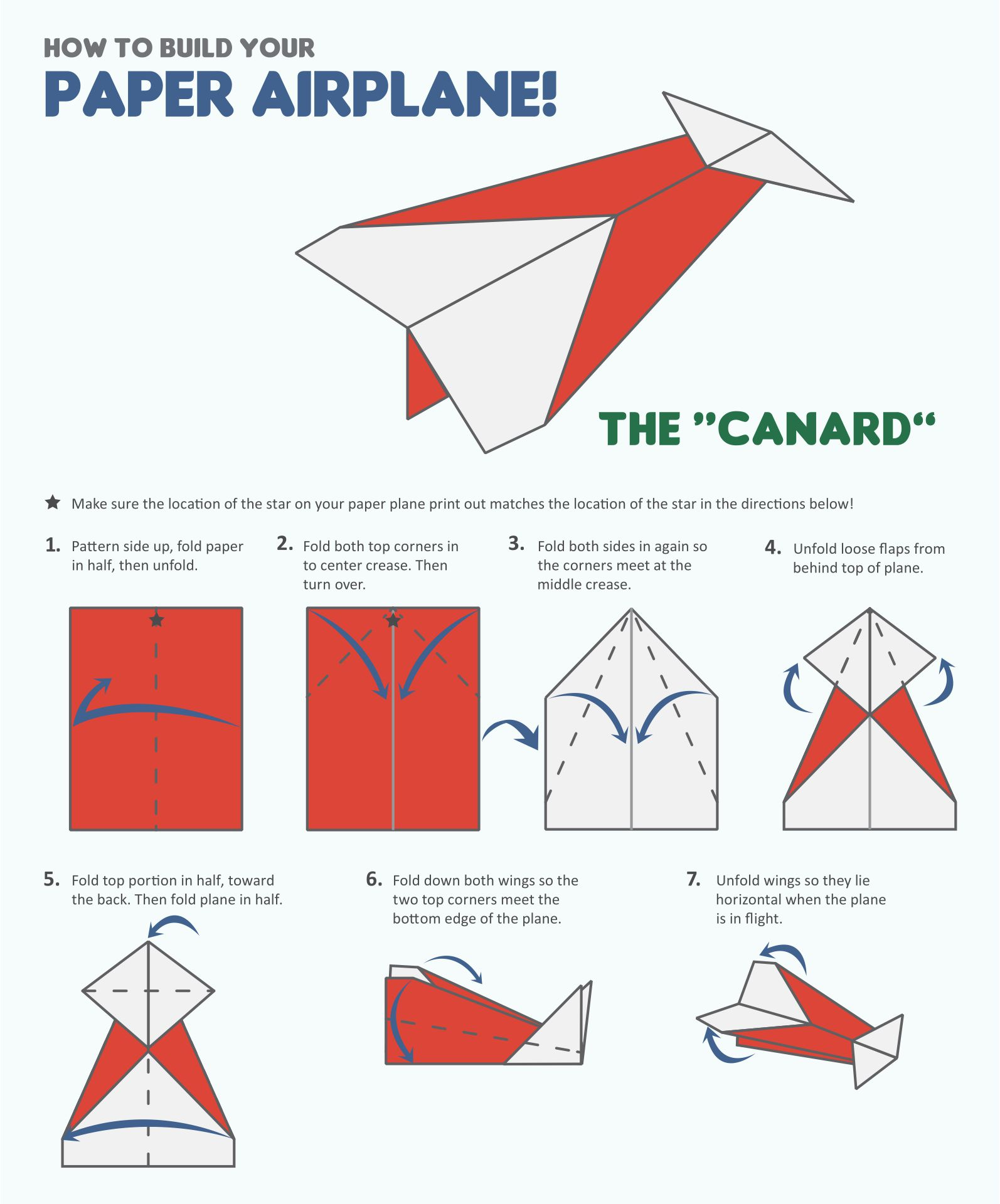 Paper Airplane Template Poster
