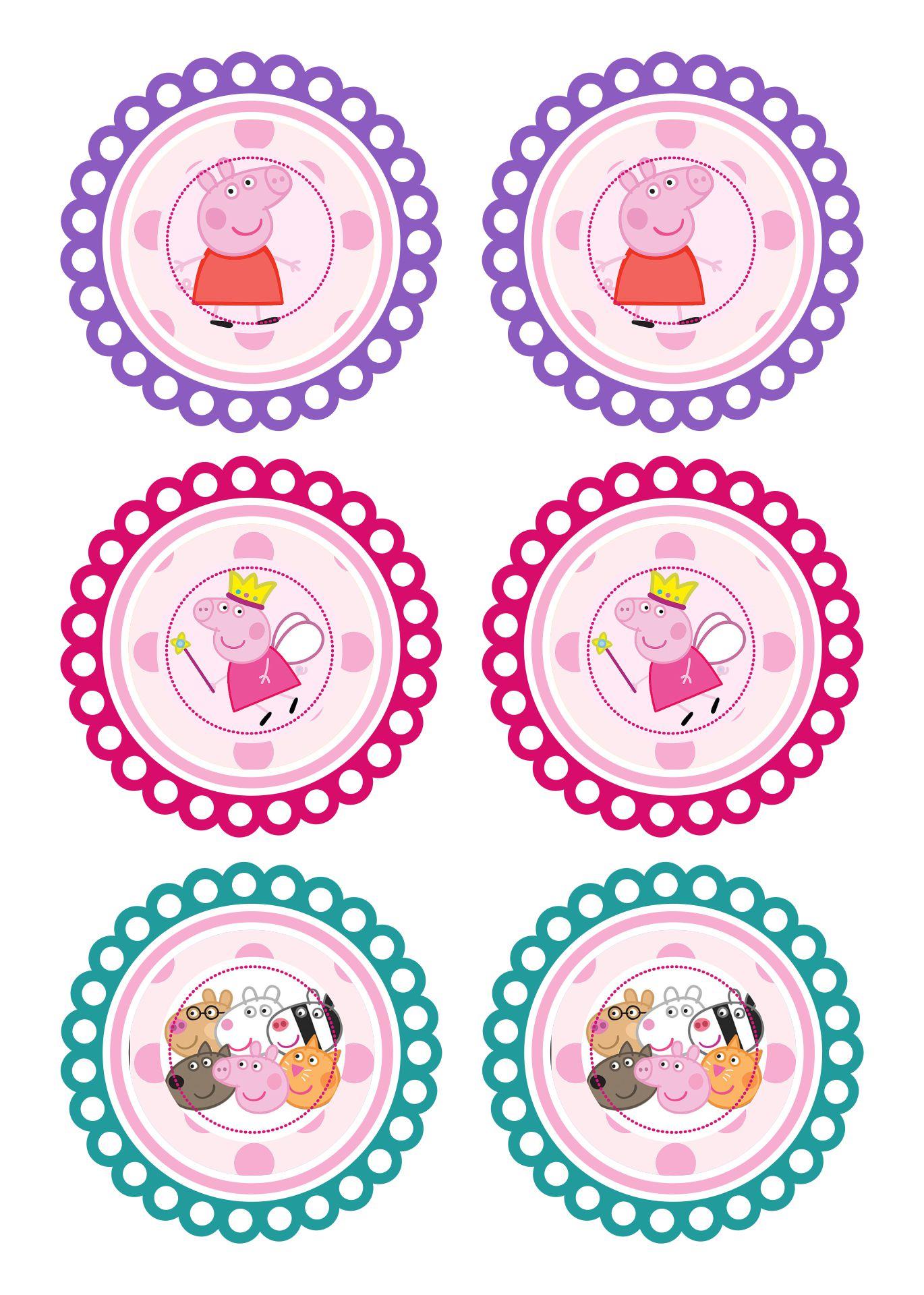 Peppa Pig Free Printable Toppers