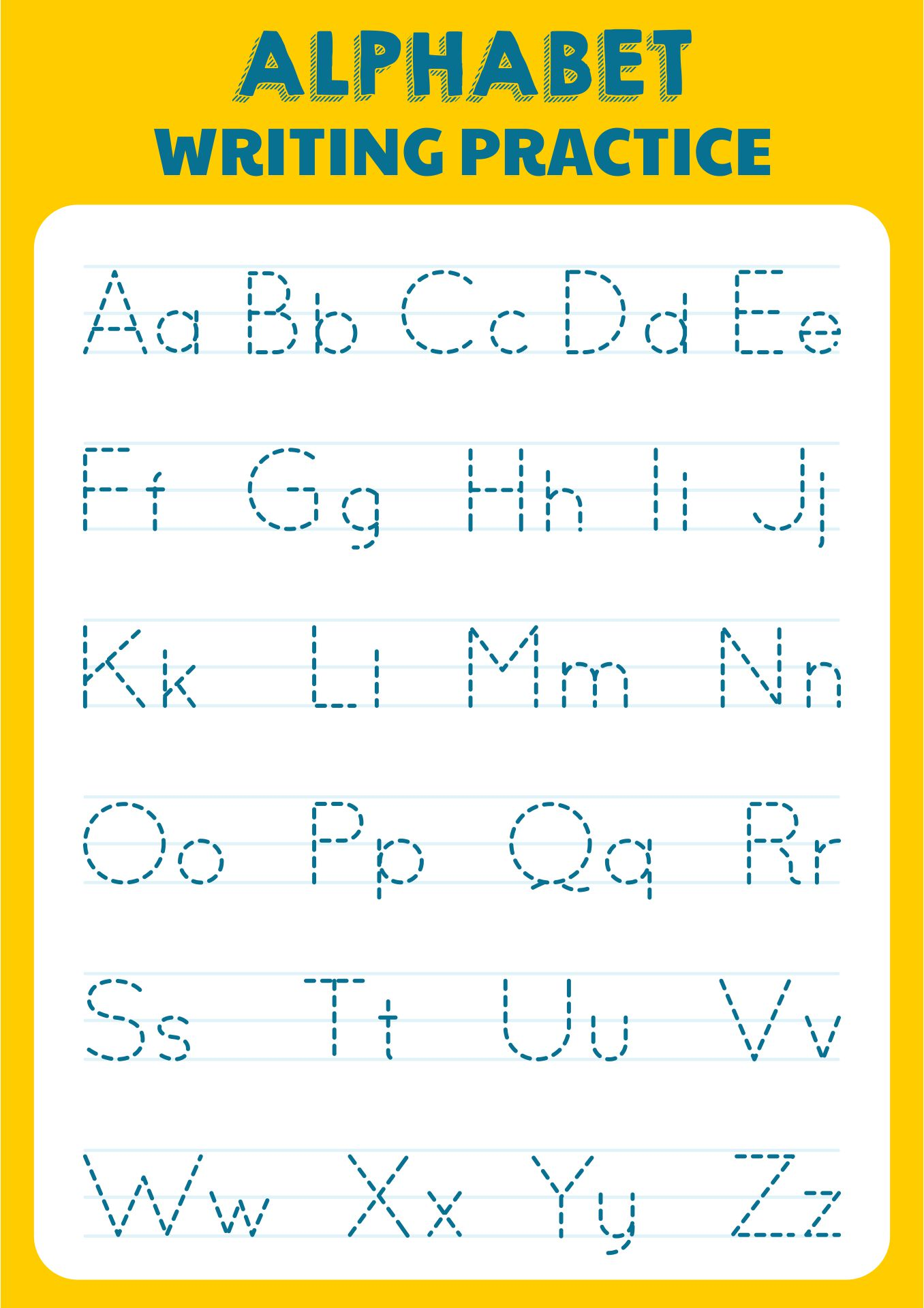 Printable Alphabet Letters For Tracing