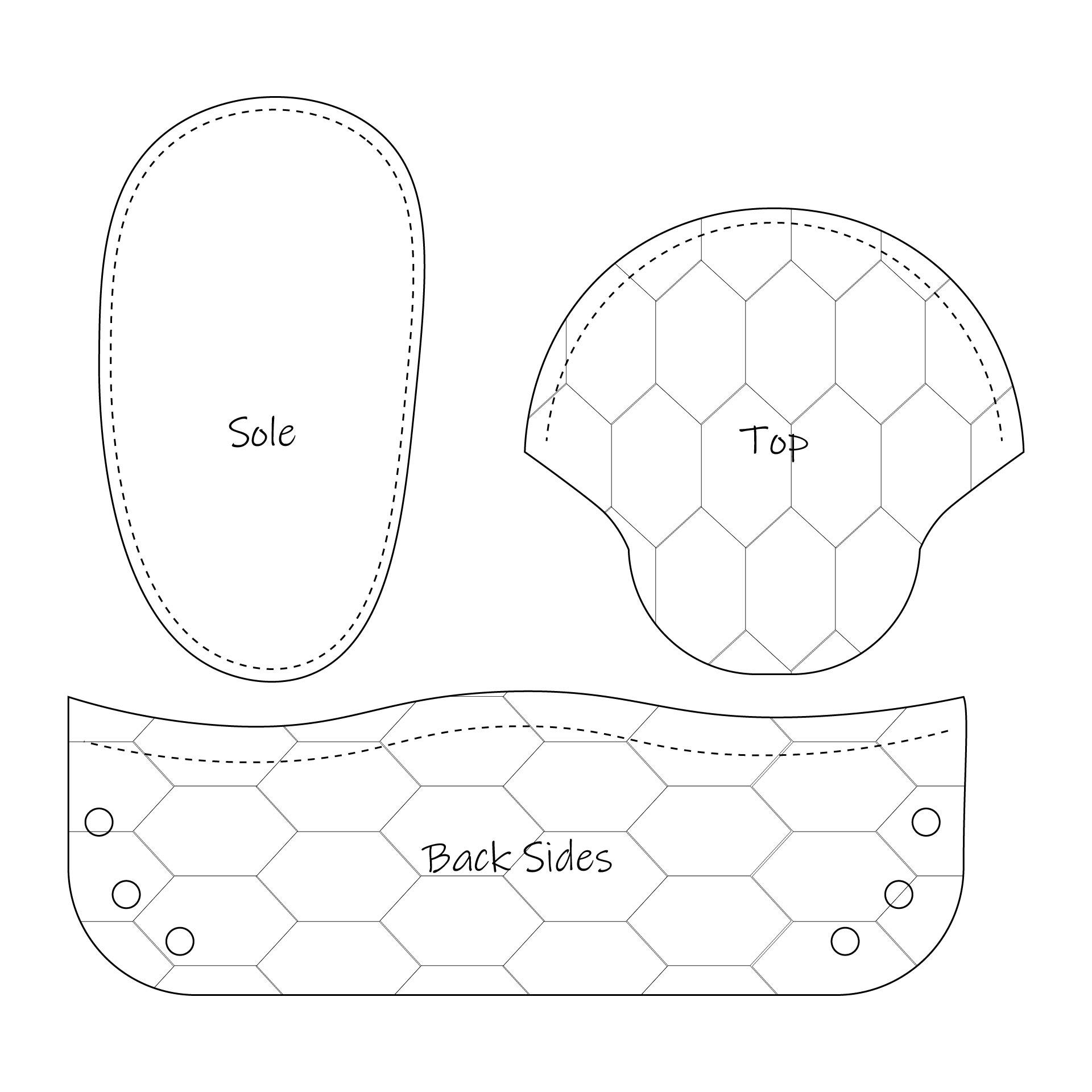 Printable Baby Moccasin Snake Pattern