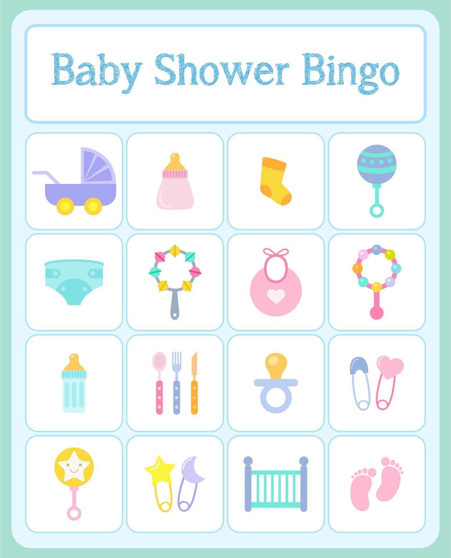 Printable Bingo Cards Baby Shower