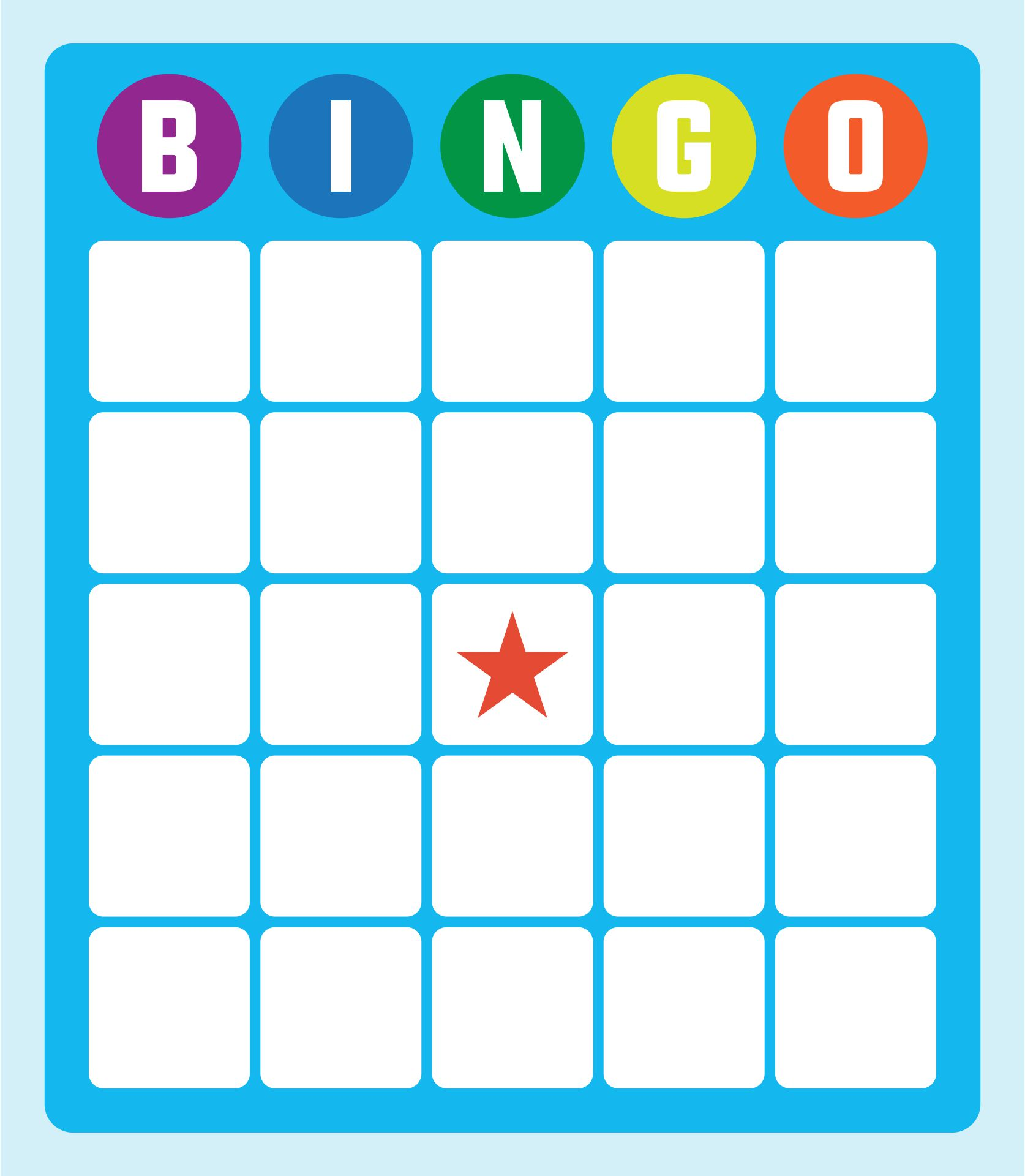 Printable Bingo Cards Blank
