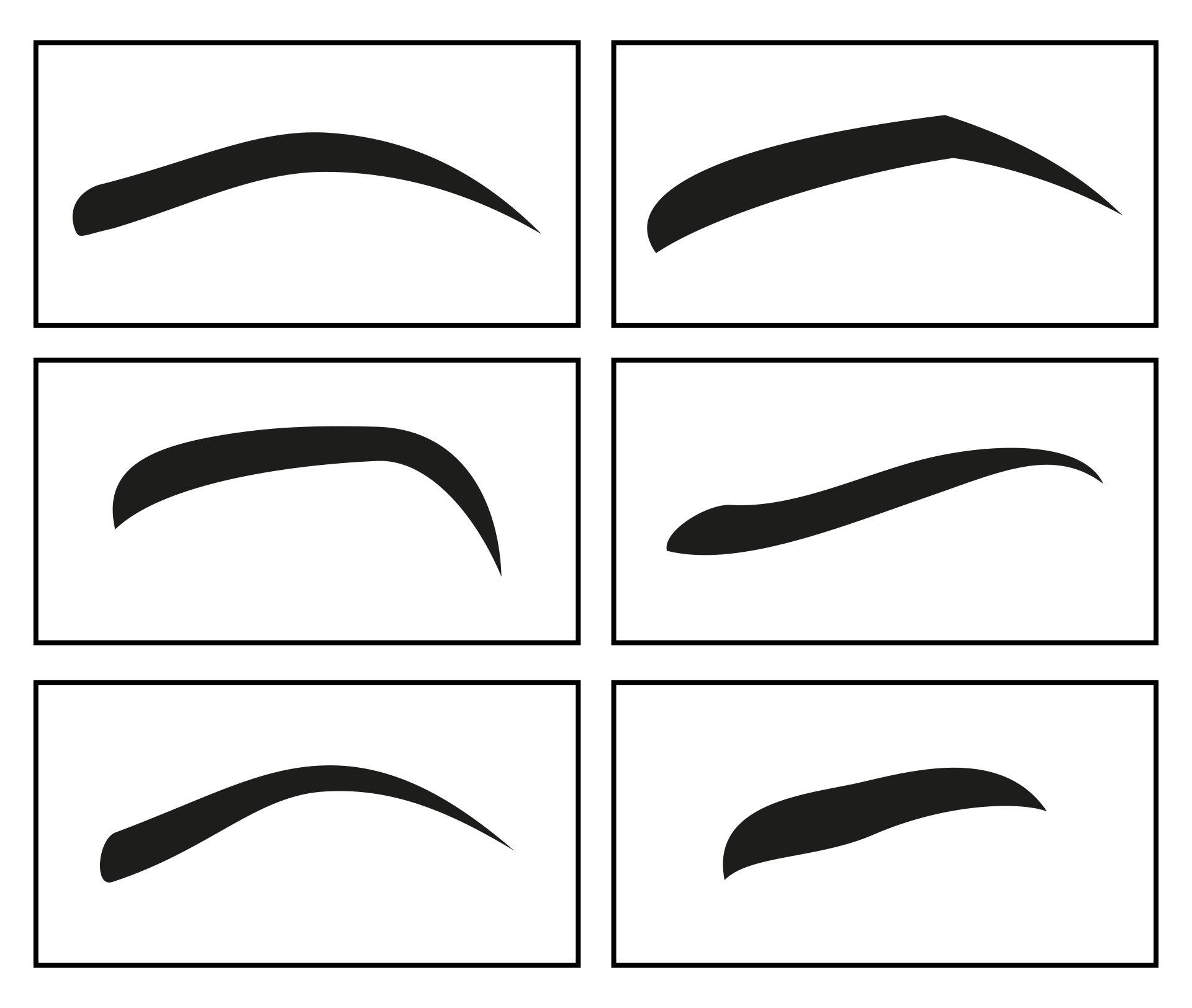 Printable Eyebrow Stencil Template