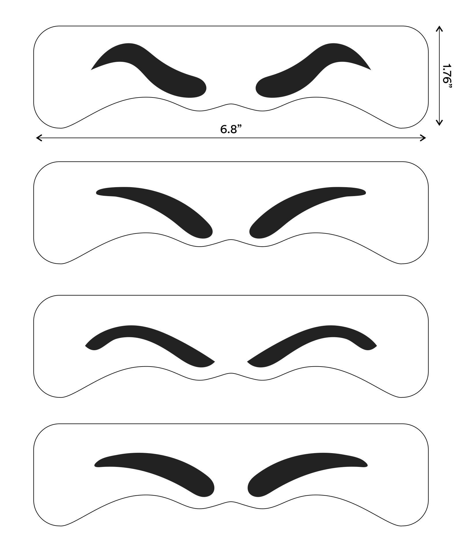 Printable Eyebrow Stencils Actual Size