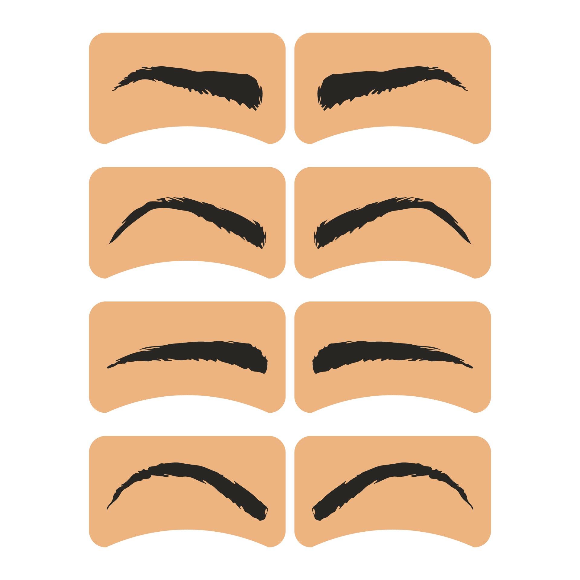 Printable Eyebrows On Point Stencil Kit