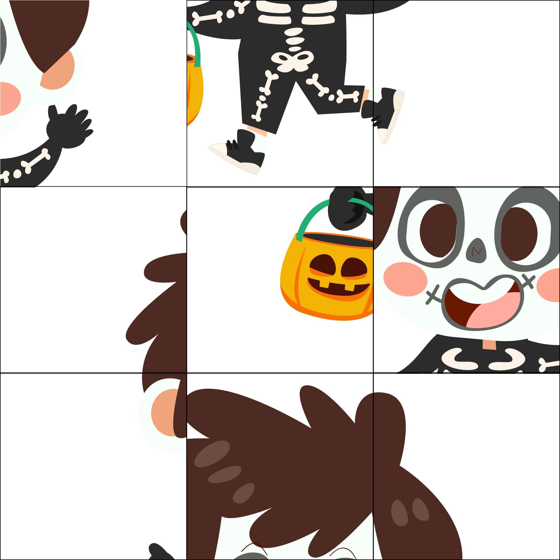 Printable Halloween Puzzle & Classroom Games