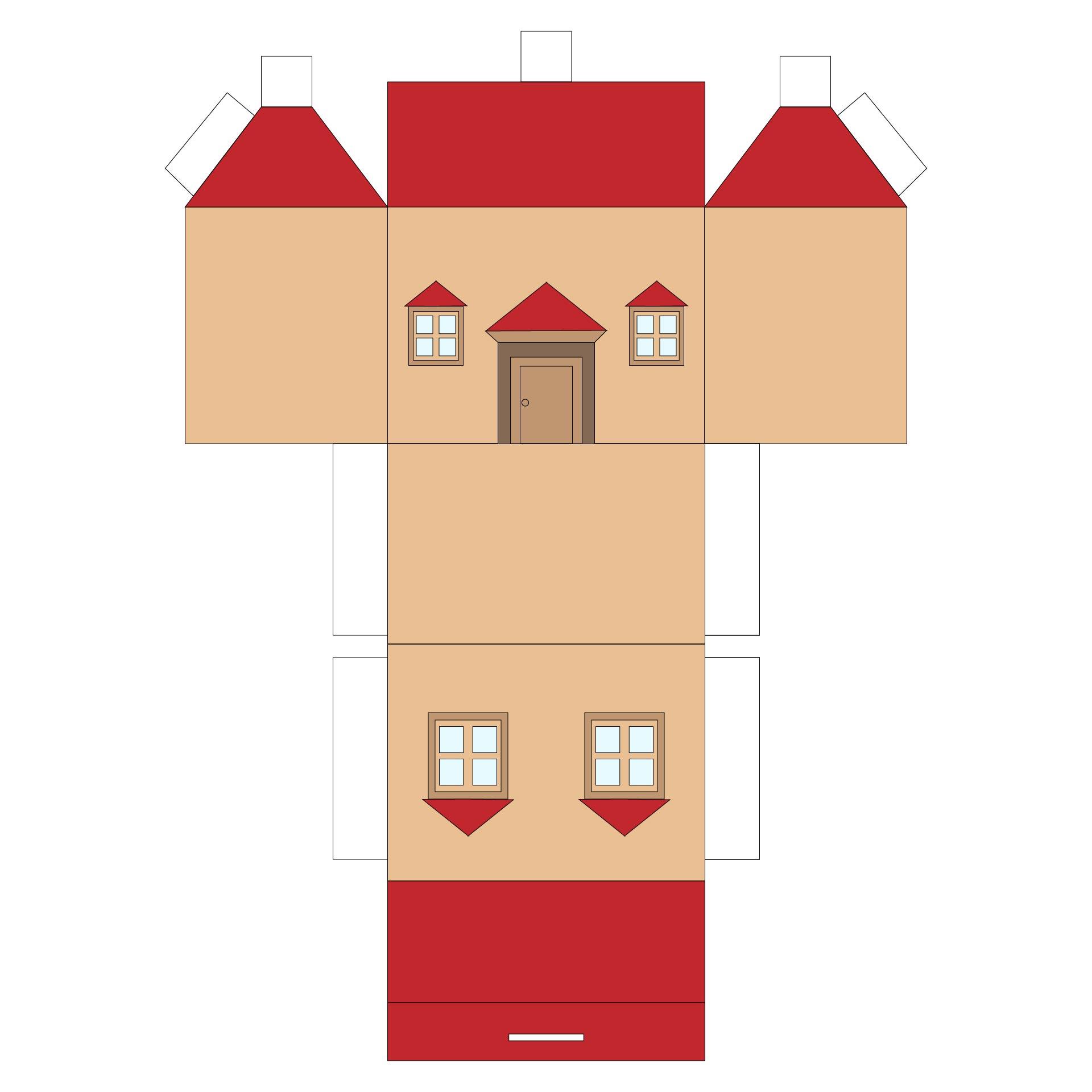 Printable Little Glitter Houses Pattern