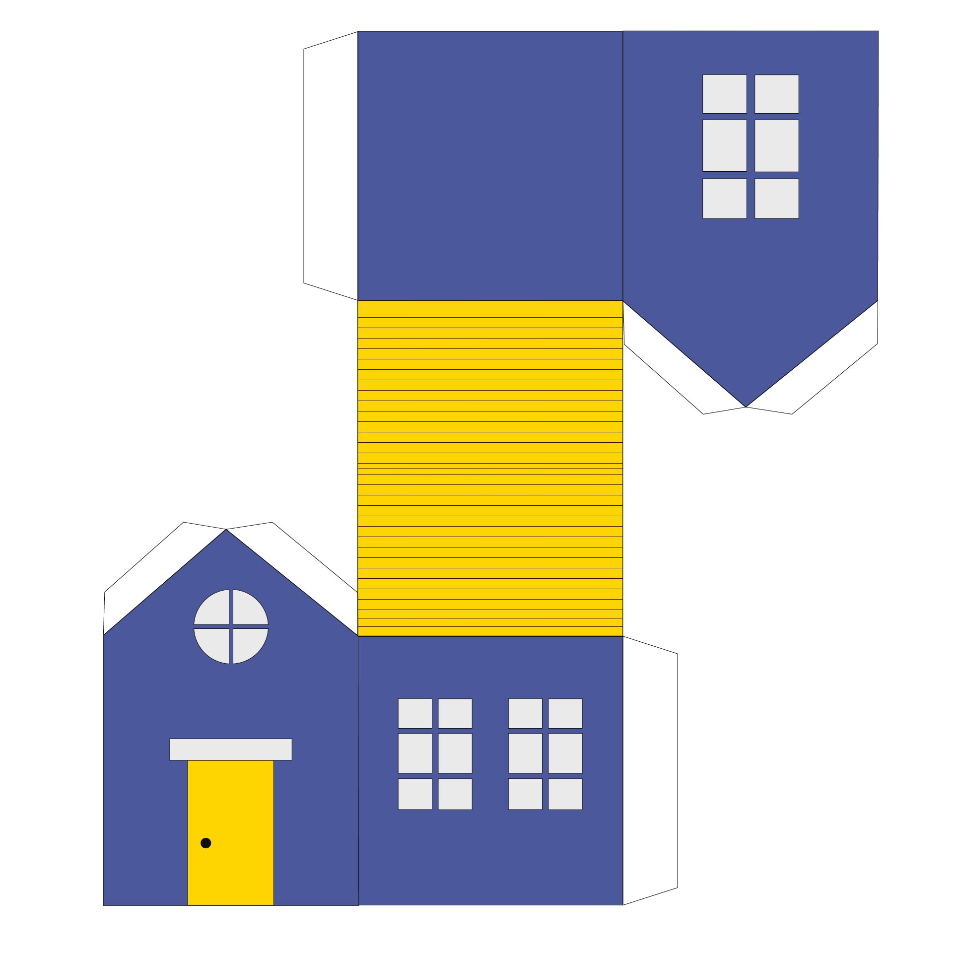 Printable Paper House Template