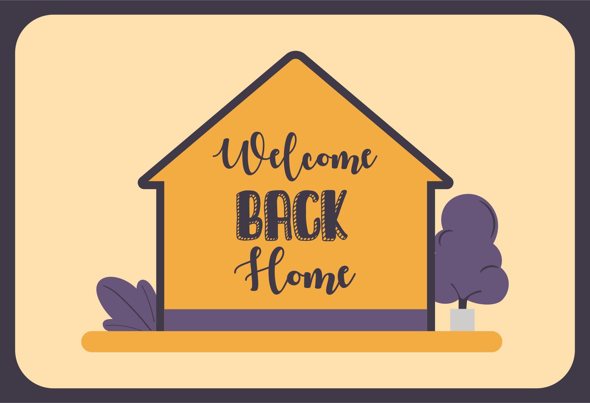 Welcome Back Home Sign Printable