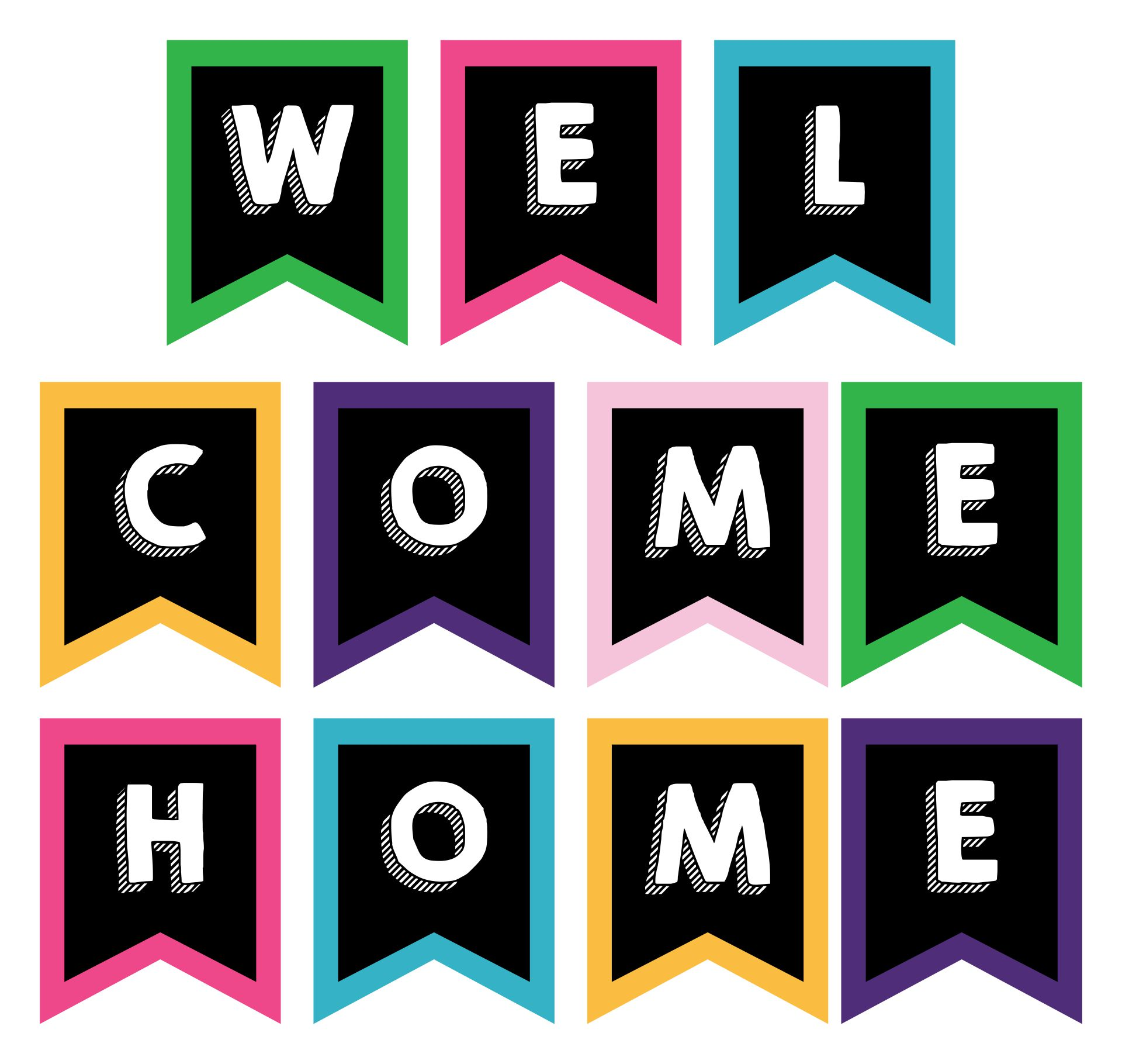 Welcome Home Banner Printable Free