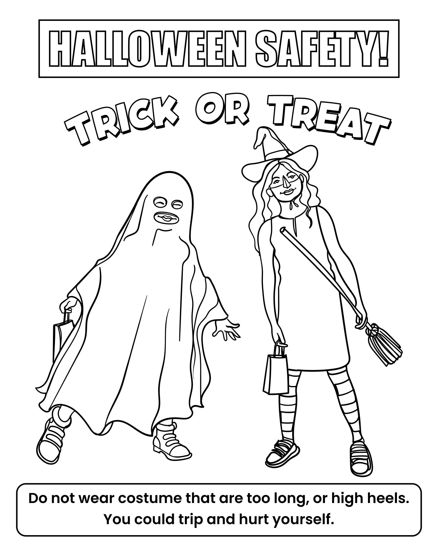 Coloring Pages For Halloween Safety For Kids