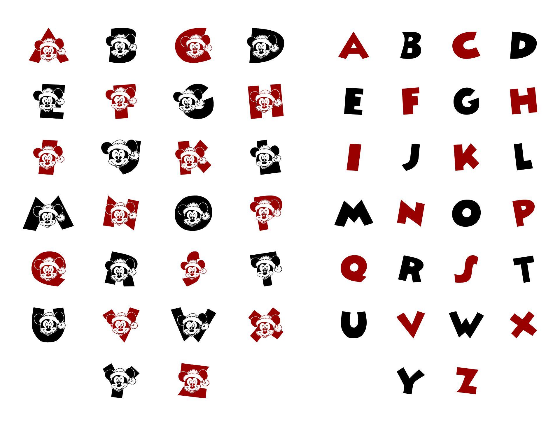 Disney Font Alphabet Stickers Printables