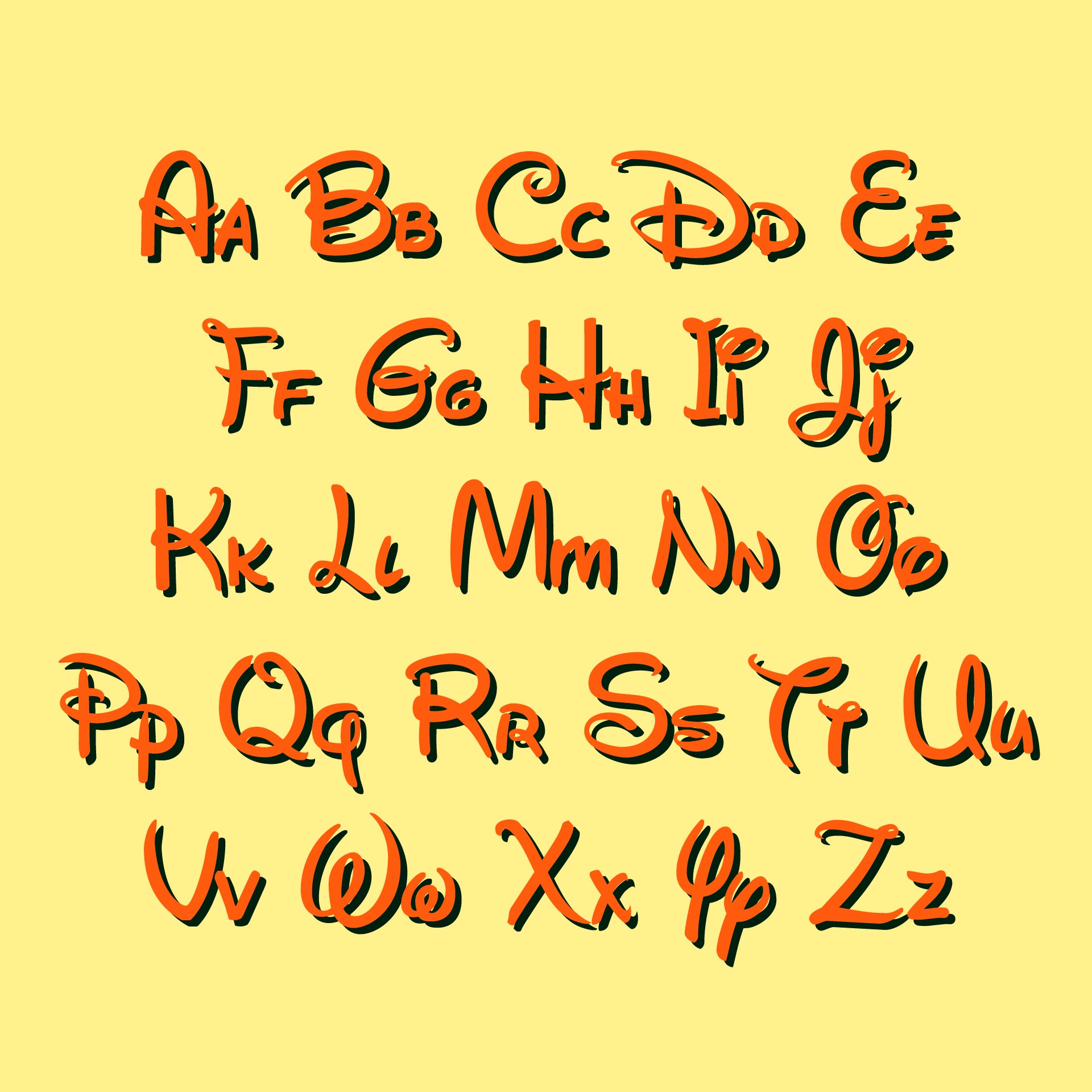 Disney Letters Font Template Printables