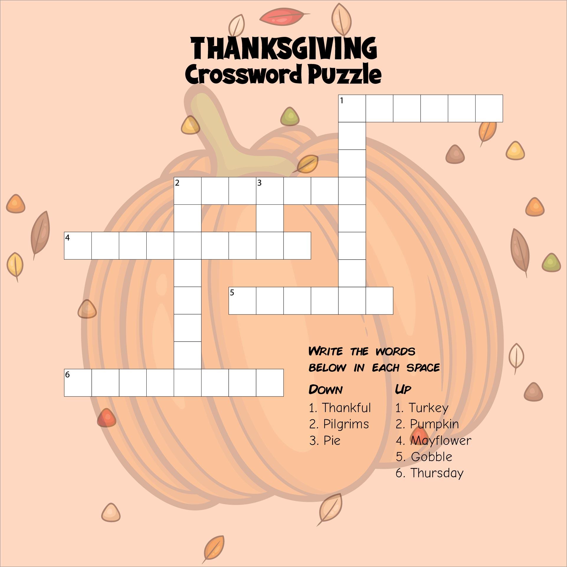 Printable Fun Thanksgiving Worksheets