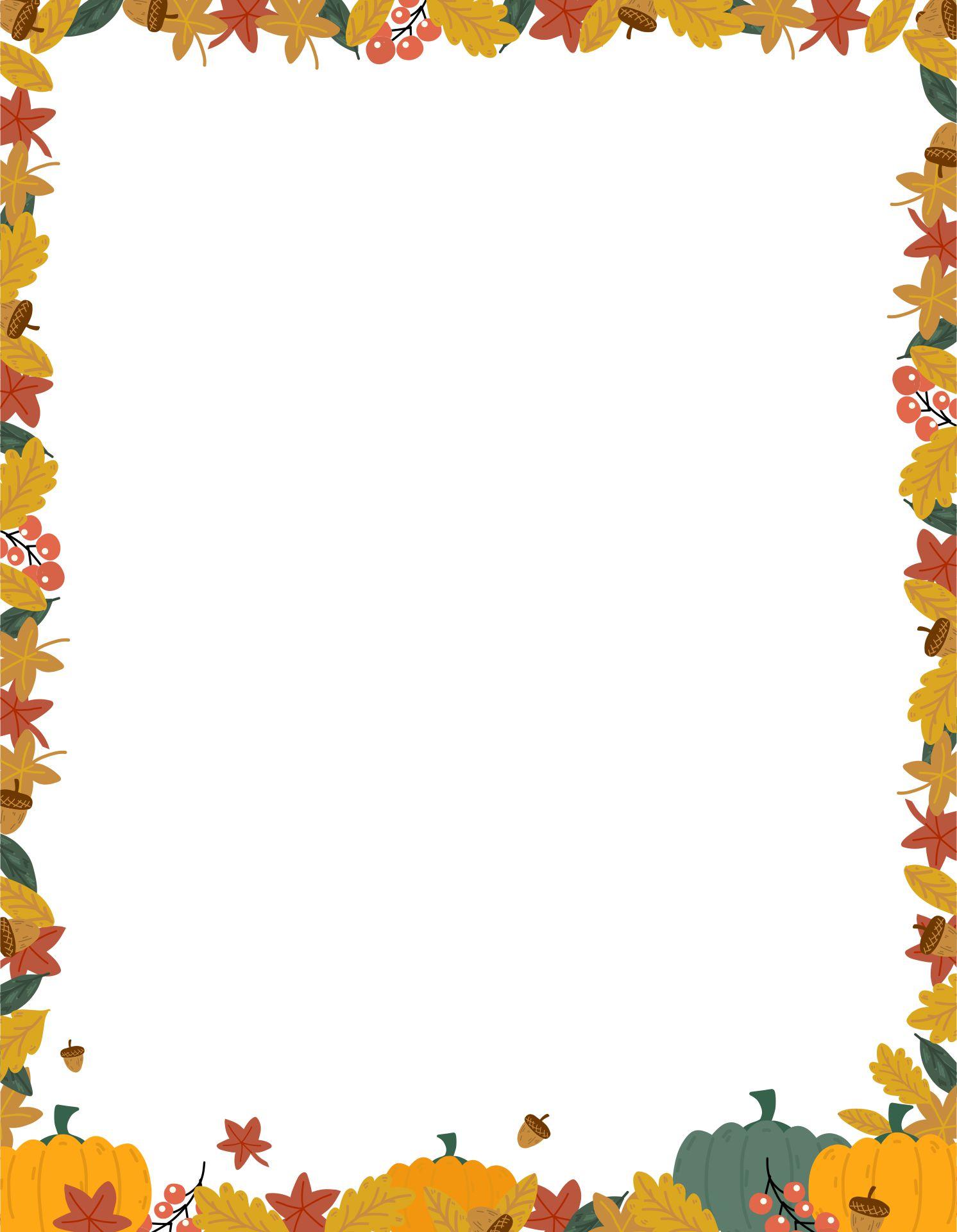 Printable Thanksgiving Borders And Frames