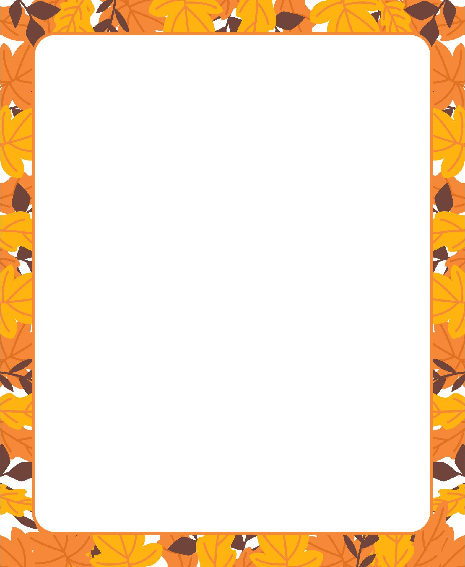 Printable Thanksgiving Stationery Borders