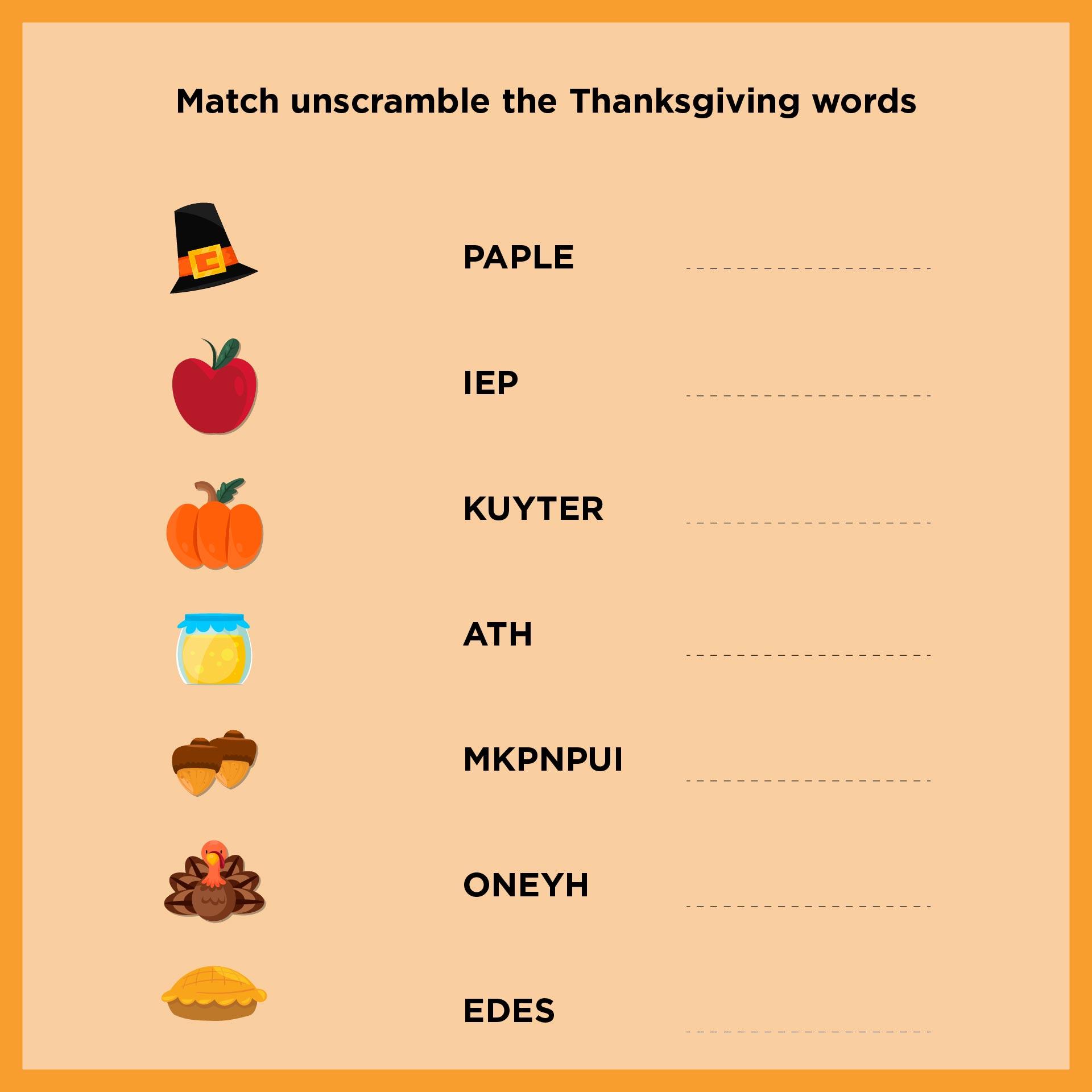 Thanksgiving Worksheet Packet For Kindergarten And First Grade