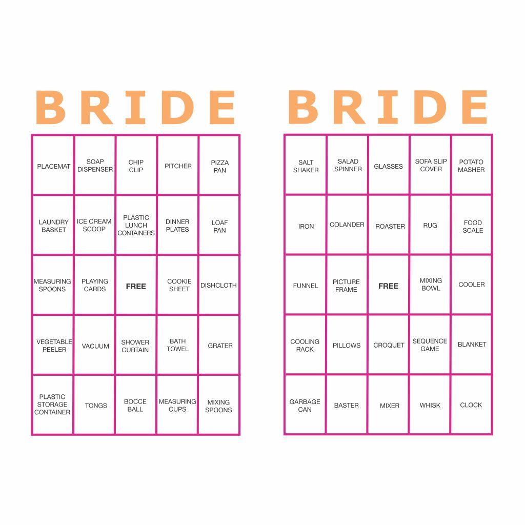 Bachelorette Bingo Printable