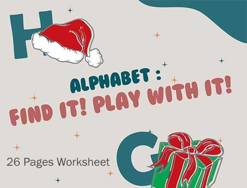 Alphabet Find It Play It Worksheet