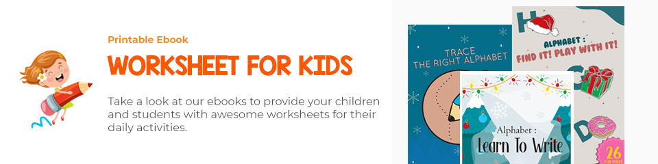 Printable Ebook - Worksheet for Kids Activity Products