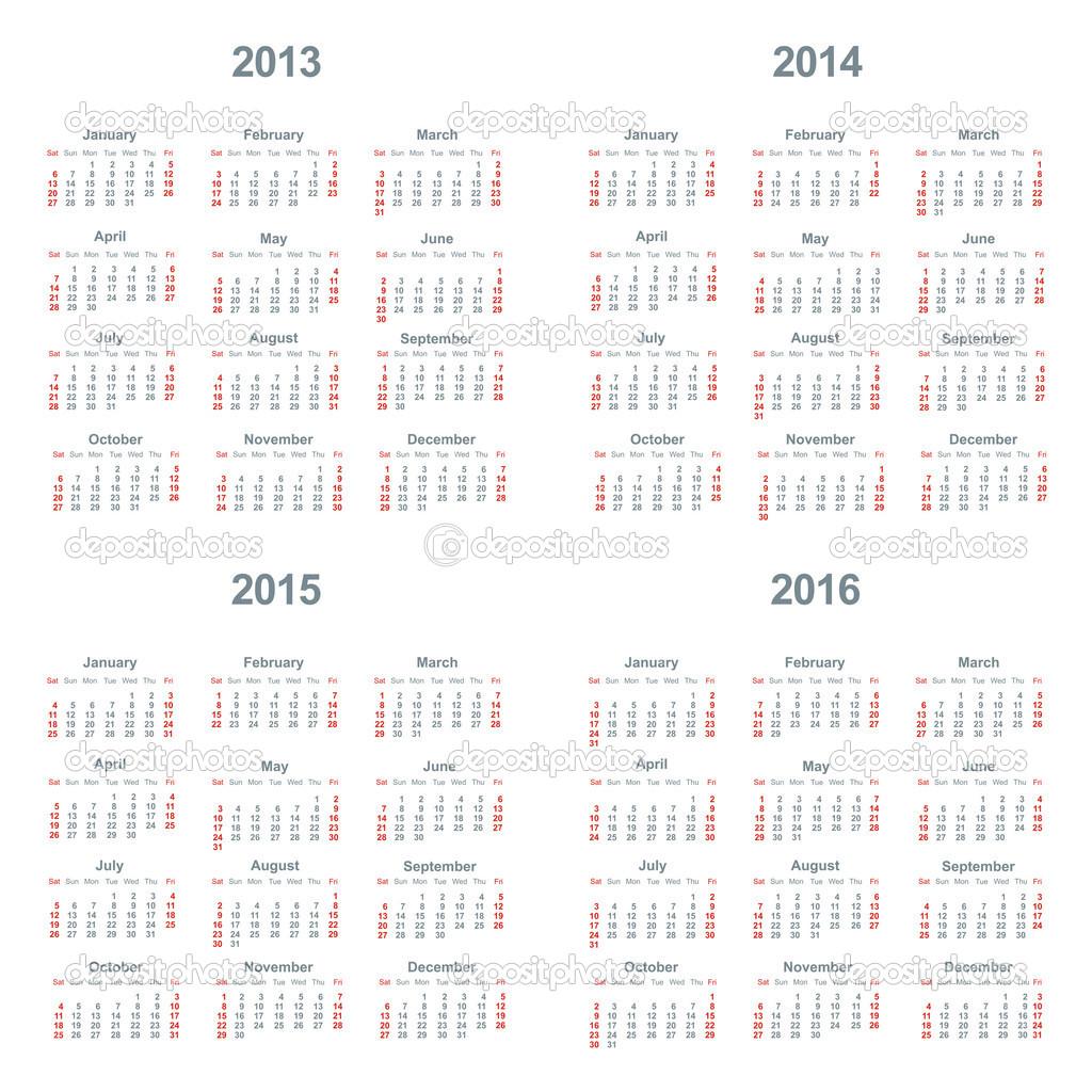 5 Images of 2013 2015 Calendar Printable
