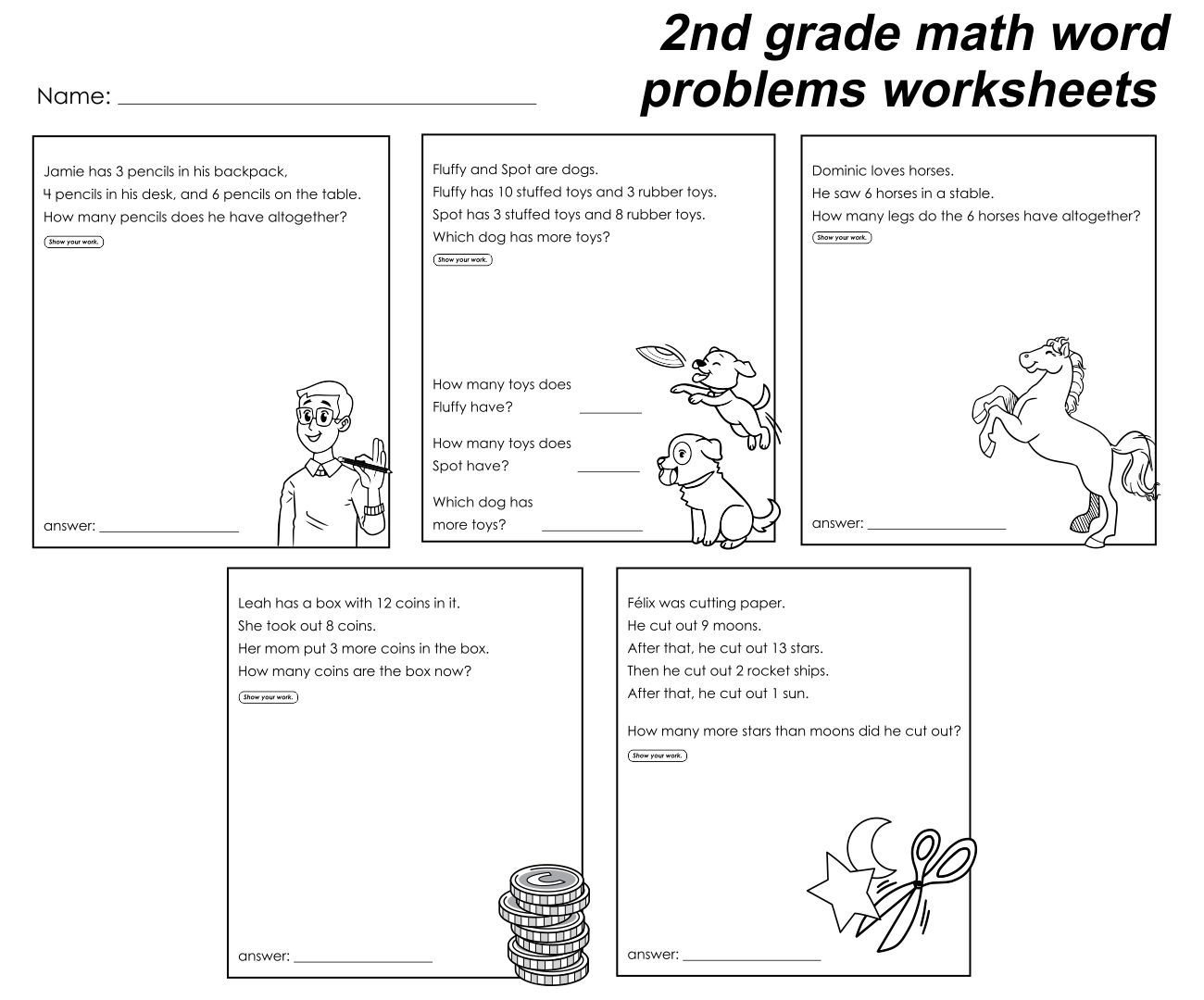 Worksheet Stories And Questions For 3rd Grade 2nd grade story scalien 7 best images of problems printable grade
