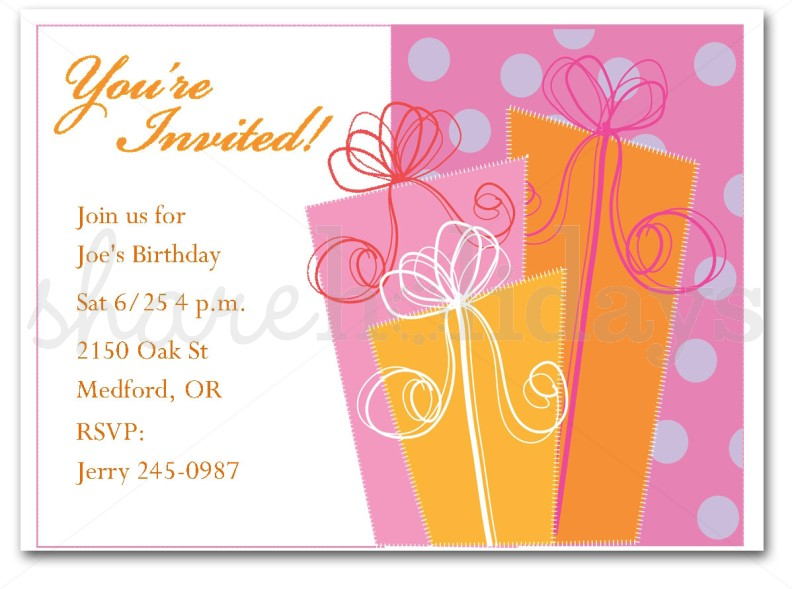 birthday invitations templates – Birthday Template Invitations