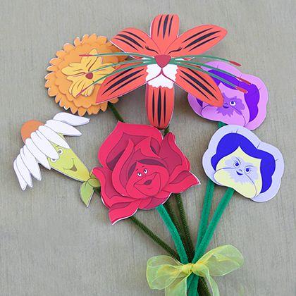 Alice in Wonderland Flower Craft