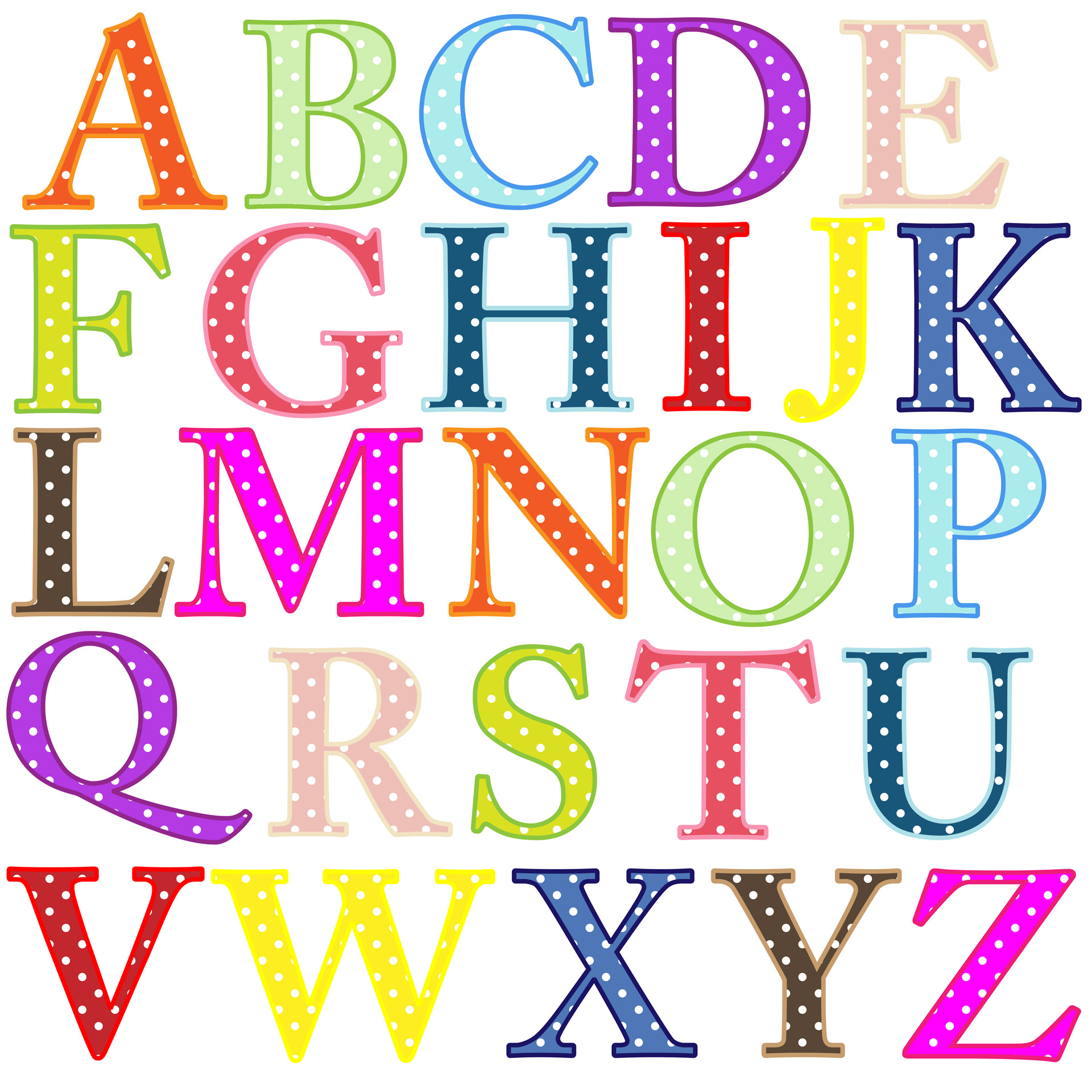 5 Images of Printable Letters Clip Art