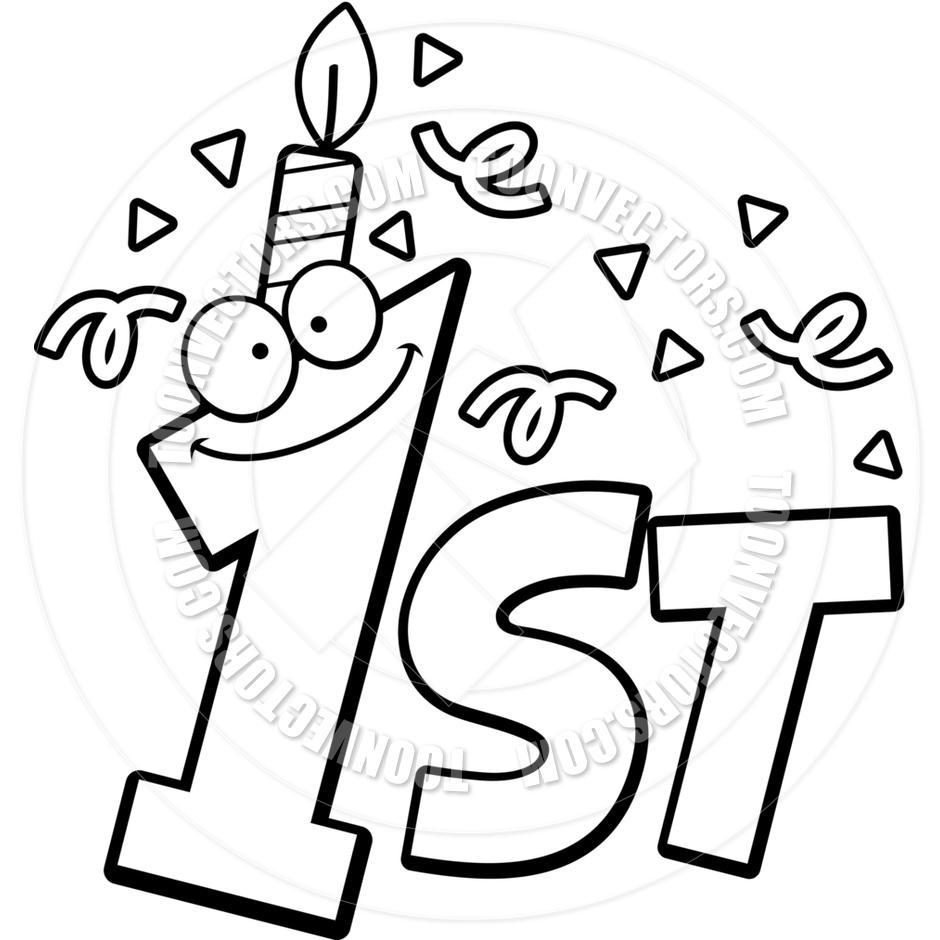 free 1st birthday coloring pages - photo#11