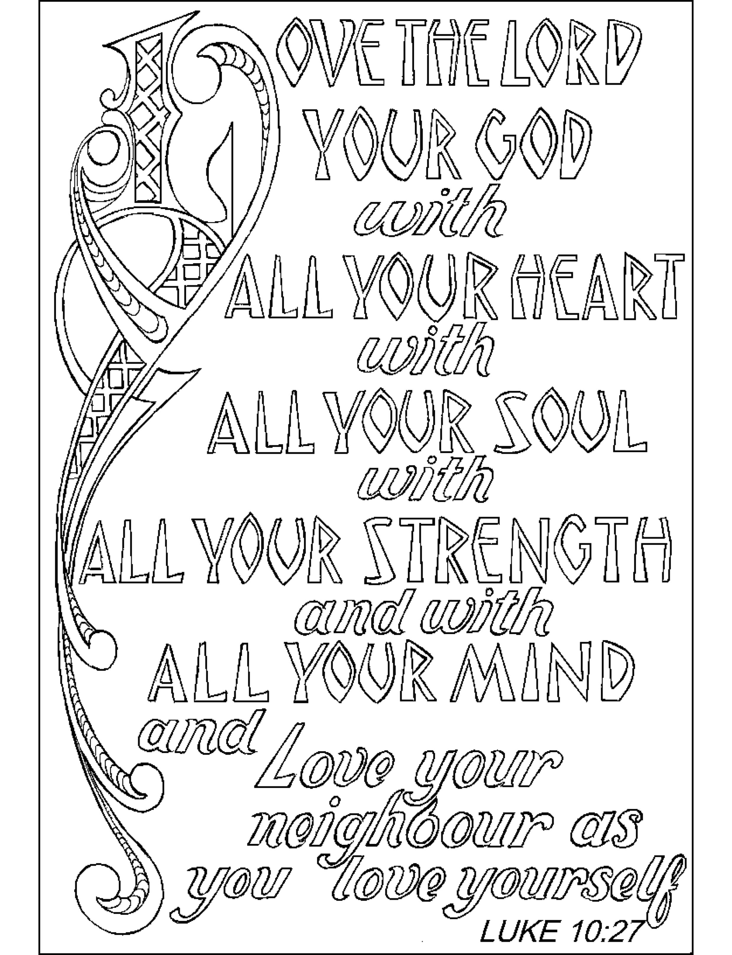 5 Images of Scripture Coloring Pages Printable