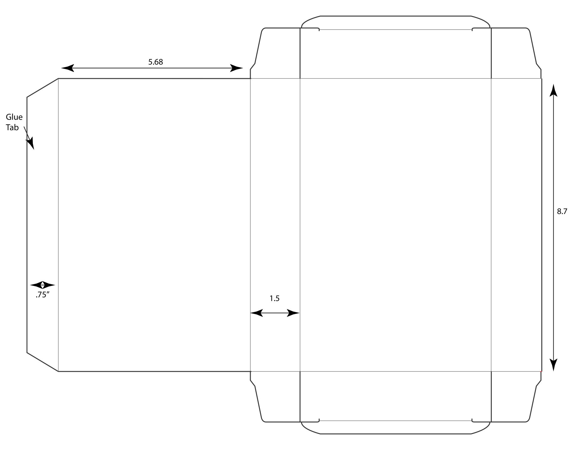 Blank Cereal Box Template