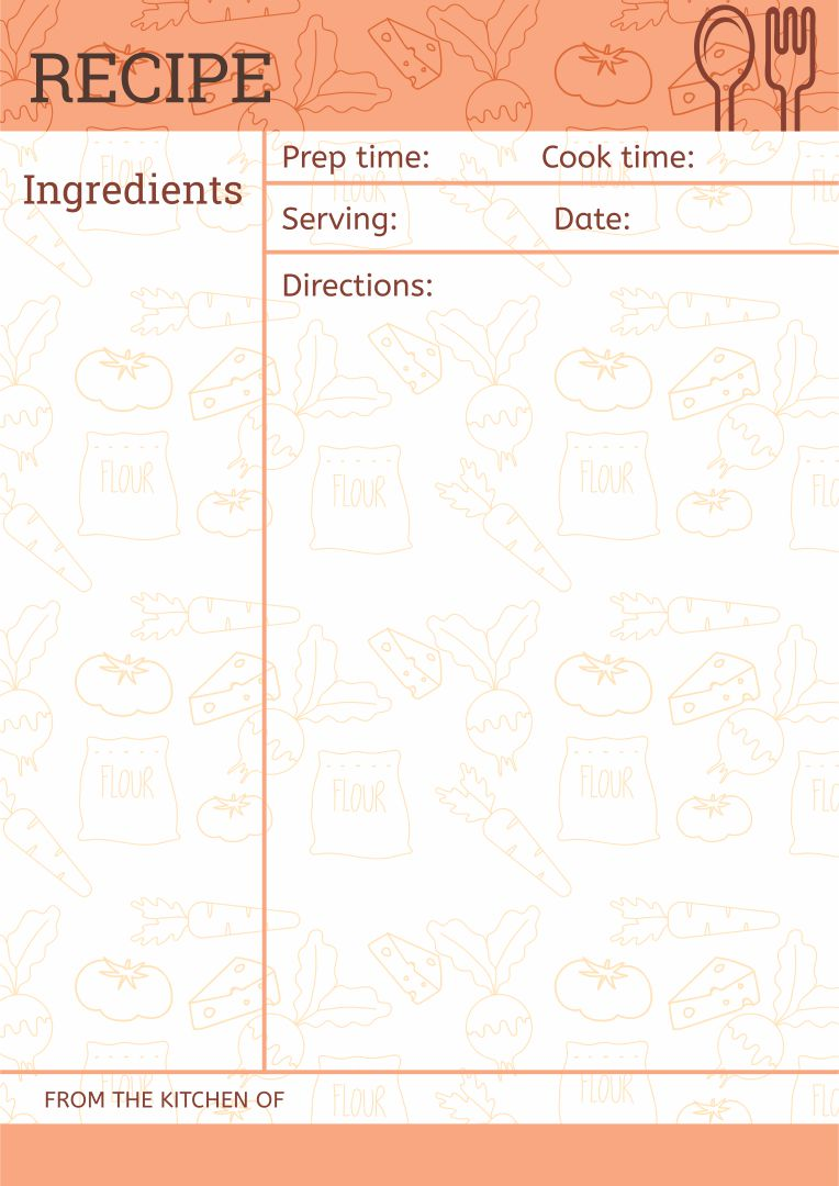 Blank Recipe Page Template